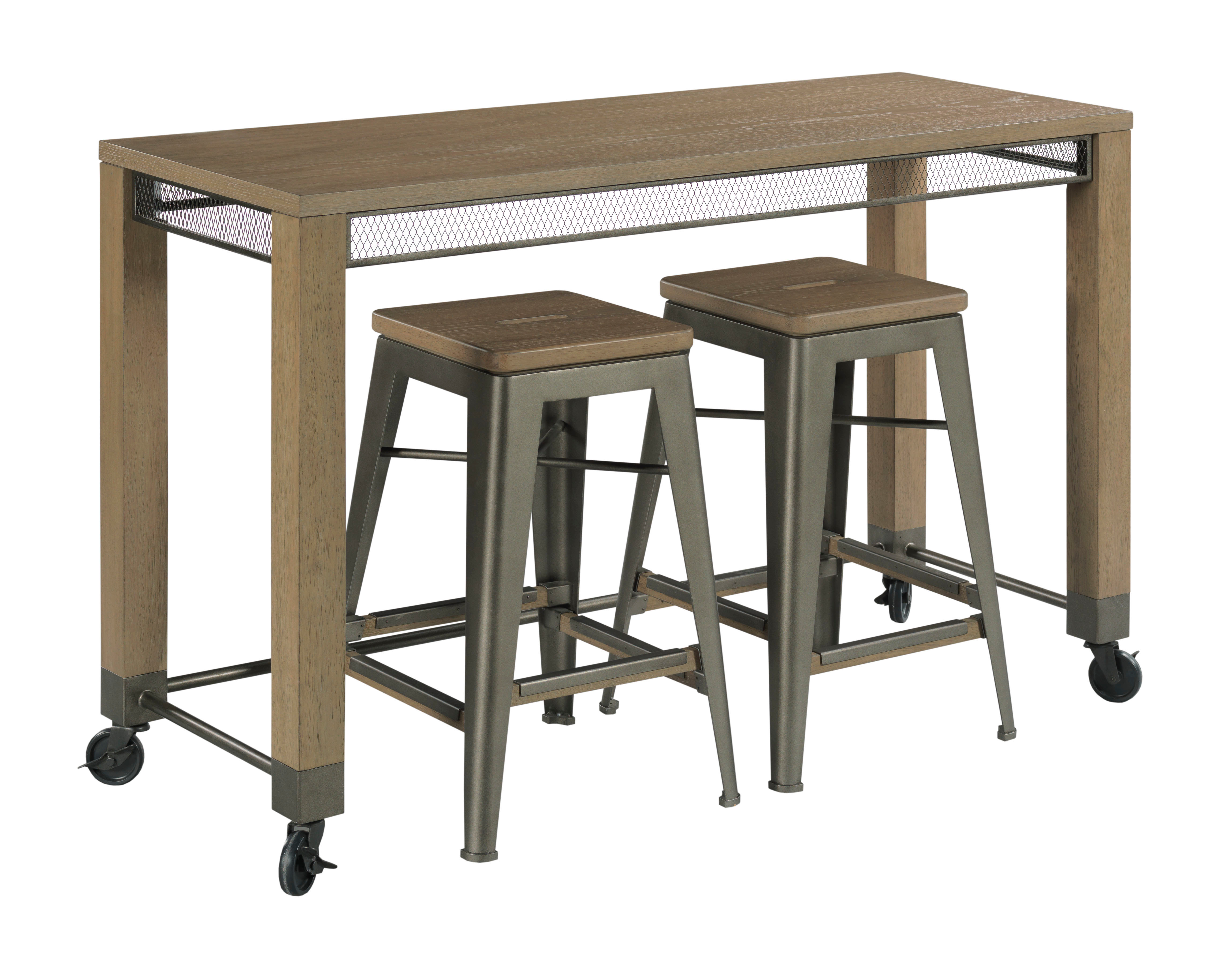 Maya Counter Console w/ 2 Stools by Table Trends at Sprintz Furniture