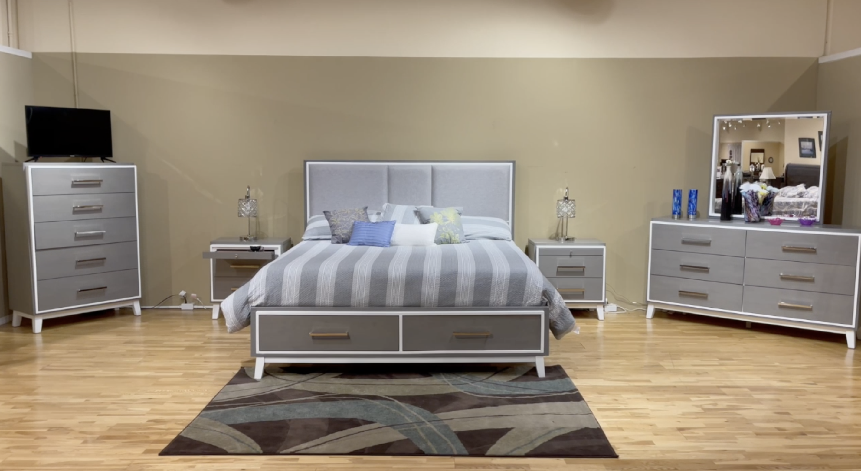 Zephyr Bedroom Set by New Classic at Beds N Stuff