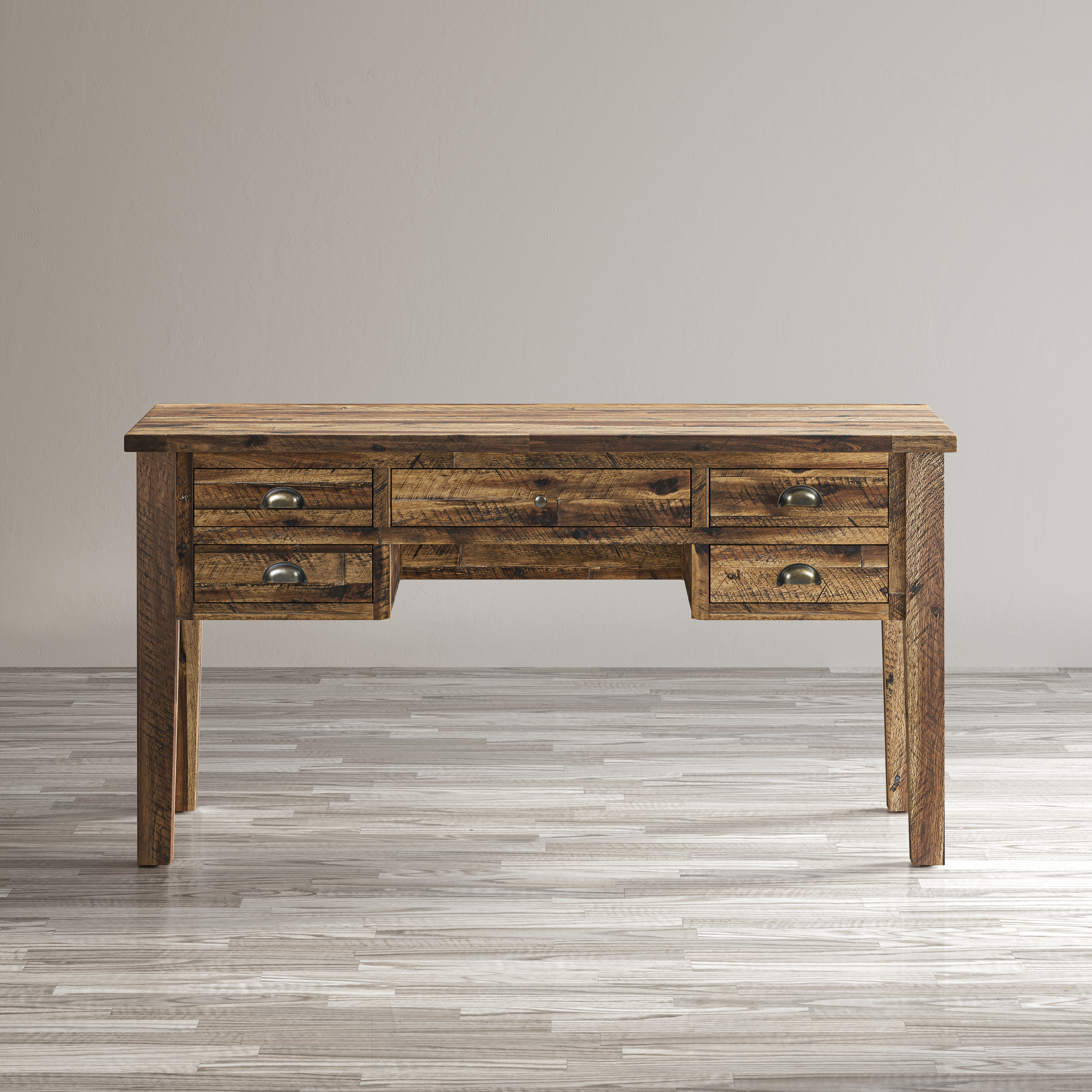 Artisan's Craft 5-Drawer Desk by Jofran at Simply Home by Lindy's