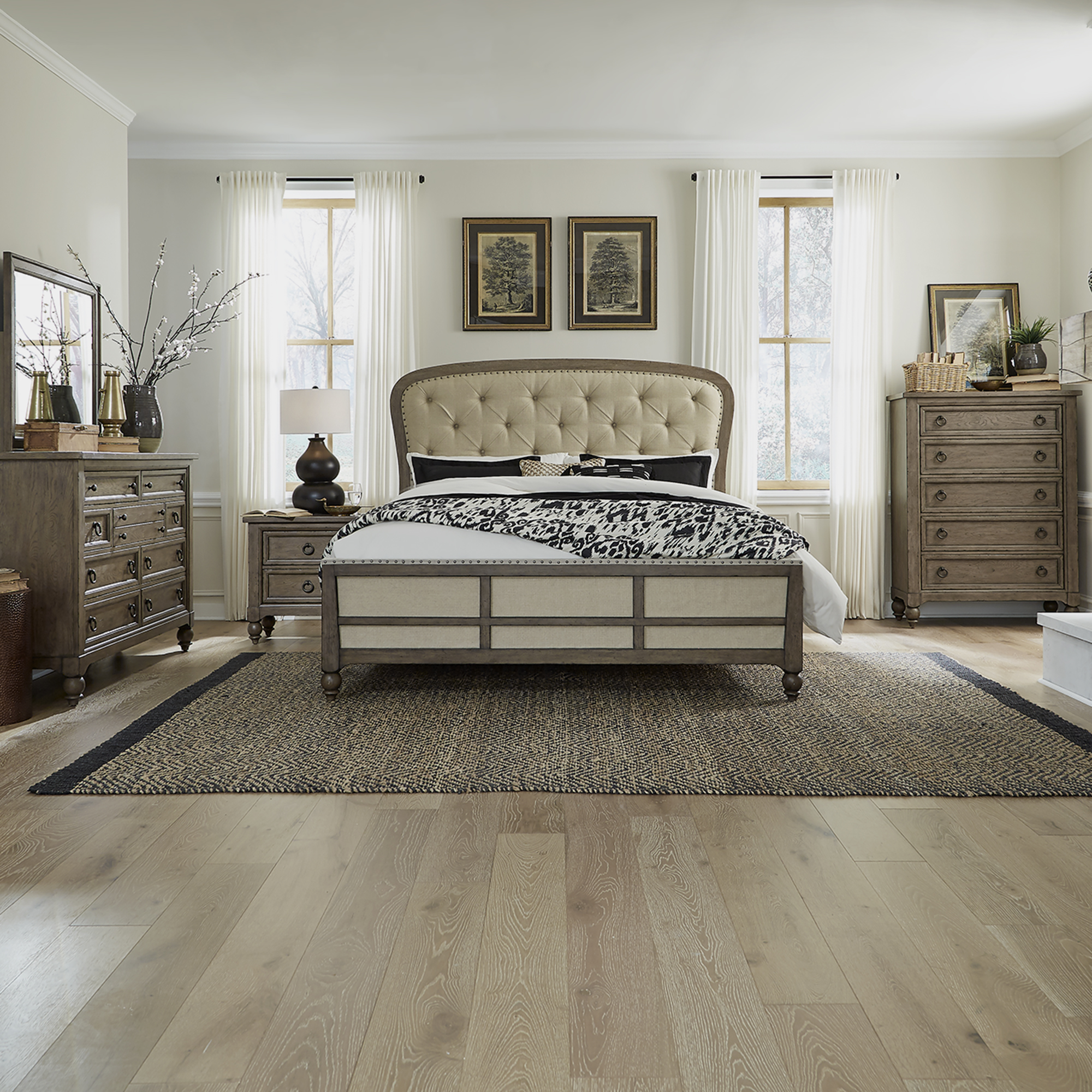 Americana Farmhouse Queen Shelter Bedroom Group by Liberty Furniture at Godby Home Furnishings