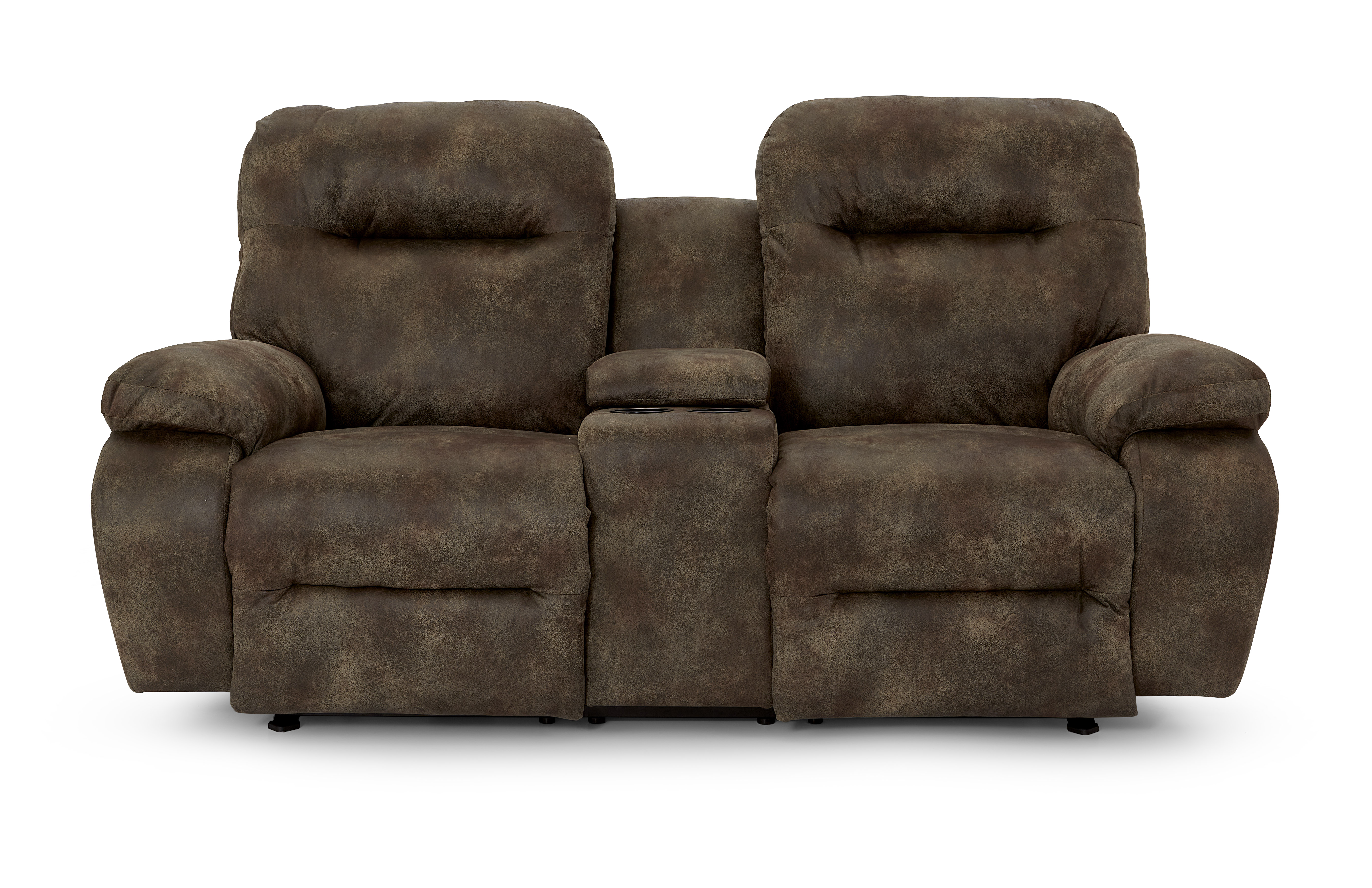 Arial Power Rock Recline Console Love w/ Headrests by Best Home Furnishings at Baer's Furniture