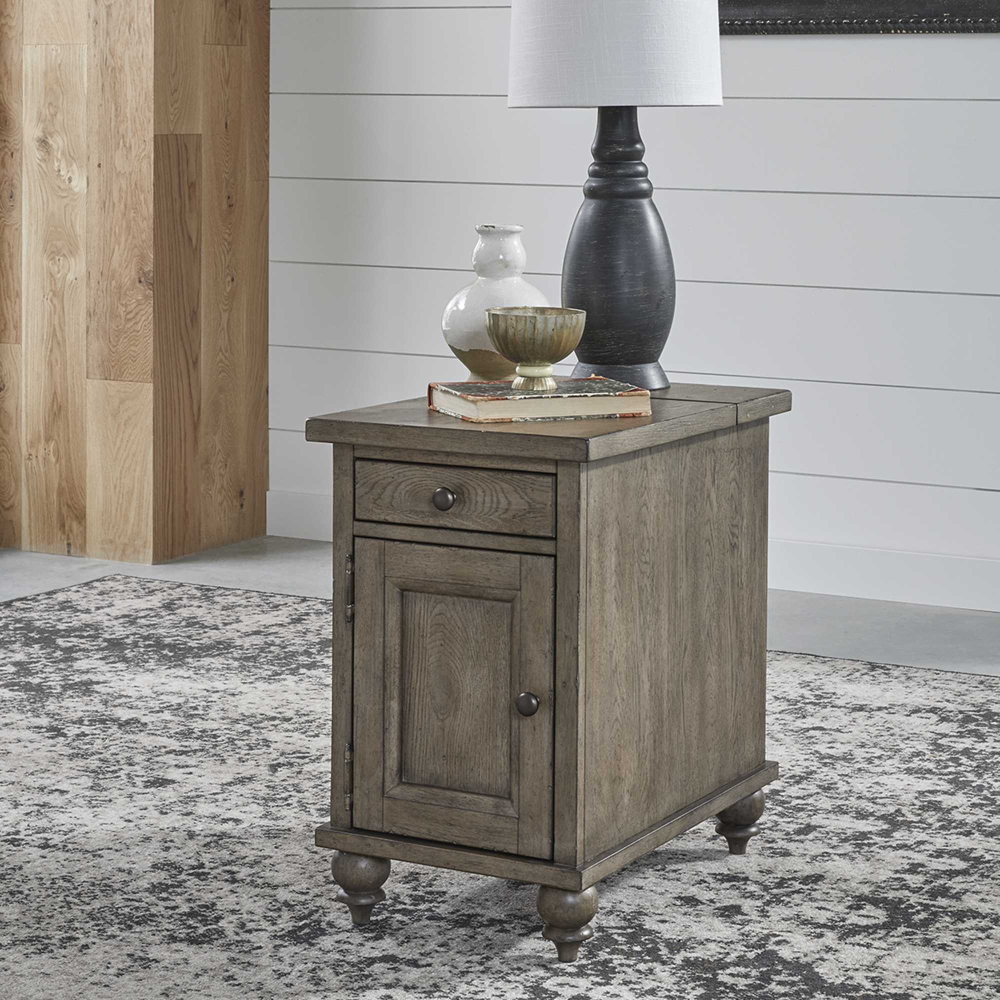 Americana Farmhouse Chairside Table by Liberty Furniture at Home Collections Furniture