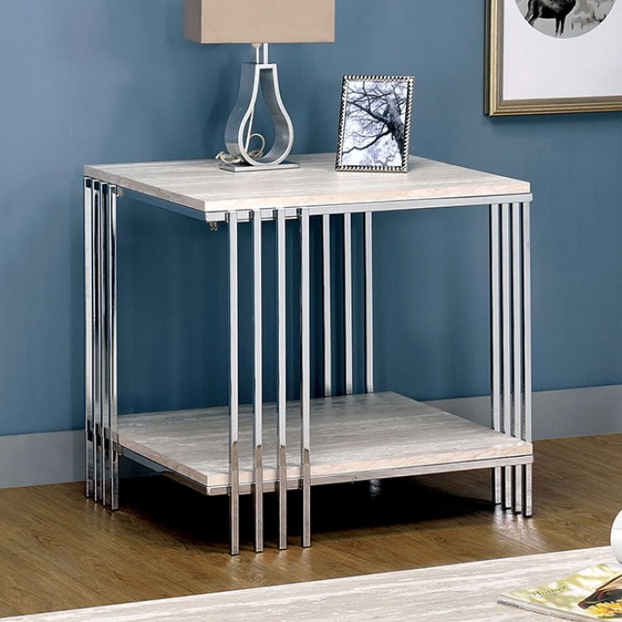 Mulheim End Table by Furniture of America at Nassau Furniture and Mattress