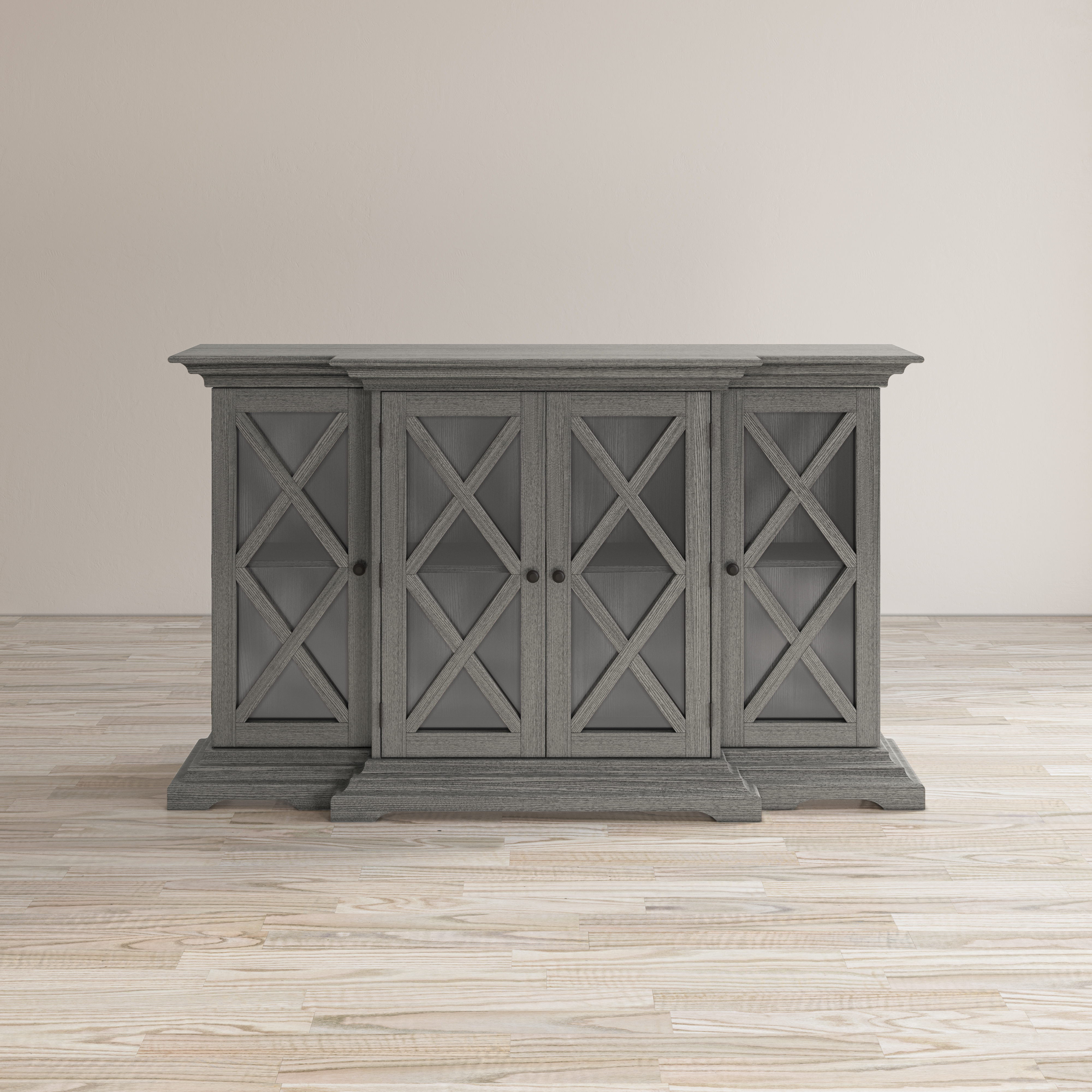 Carrington Small Breakfront Cabinet by Jofran at Crowley Furniture & Mattress