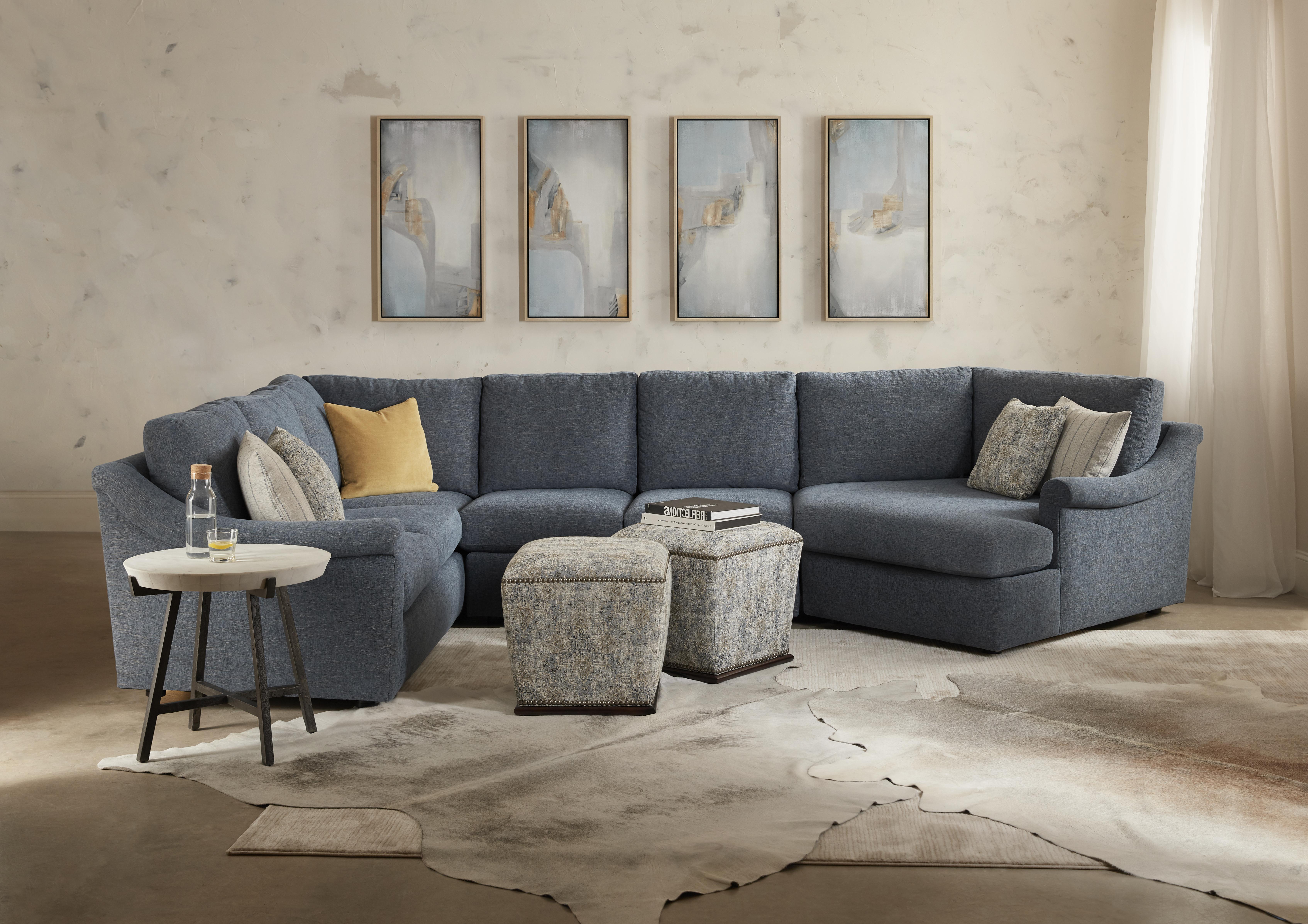 Danae 3-Piece Sectional Sofa w/ RAF Cuddler by Sam Moore at Sprintz Furniture