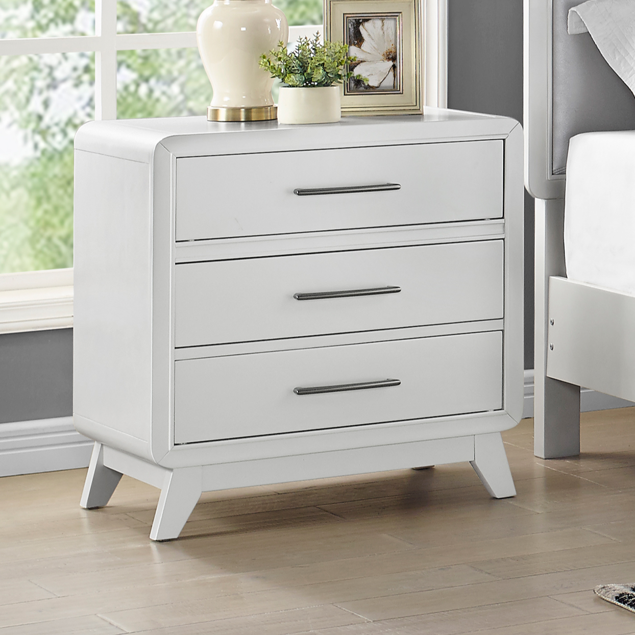Skylar Nightstand by New Classic at Beds N Stuff