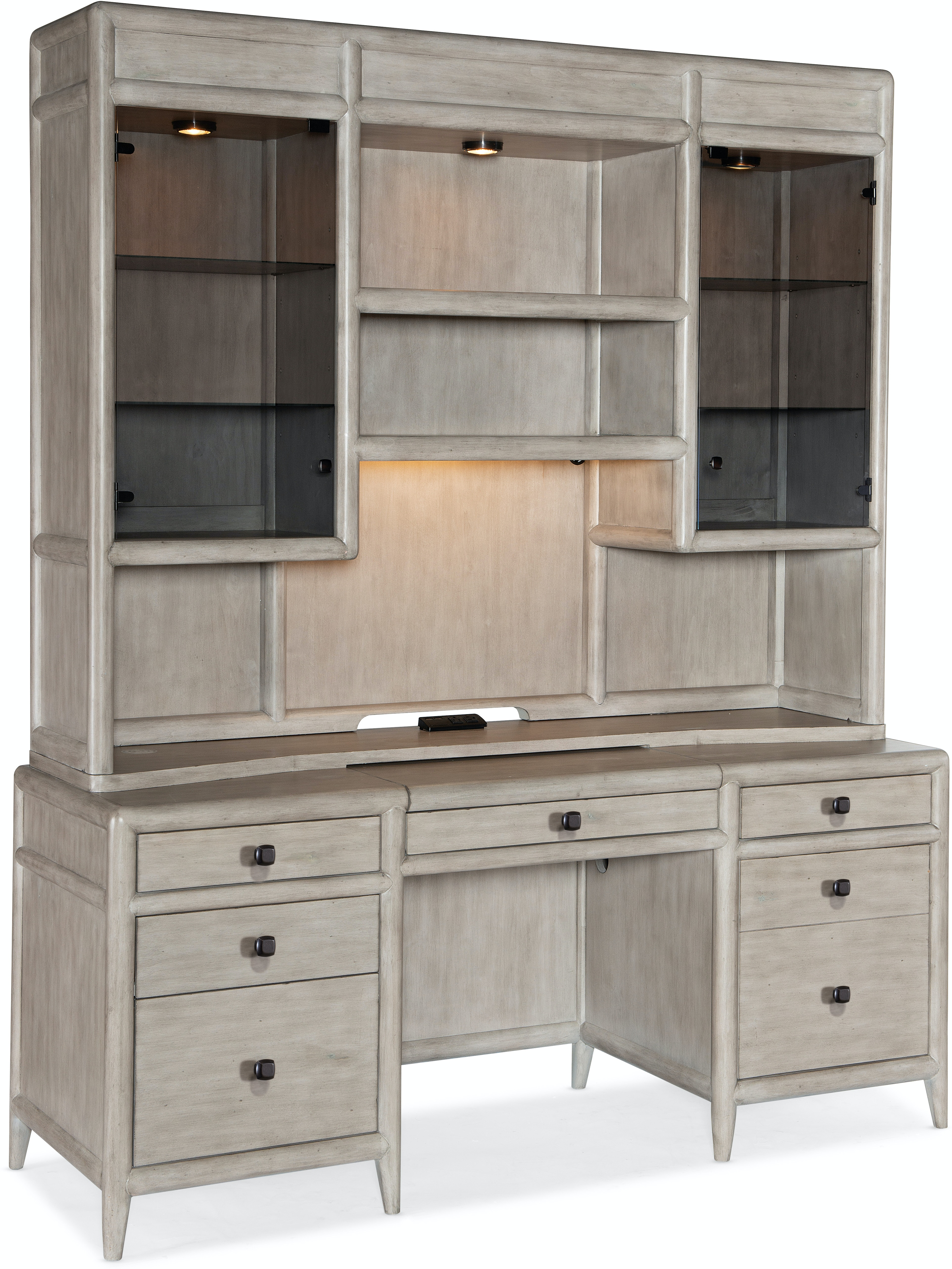 Burnham Desk with Hutch by Hooker Furniture at Fisher Home Furnishings