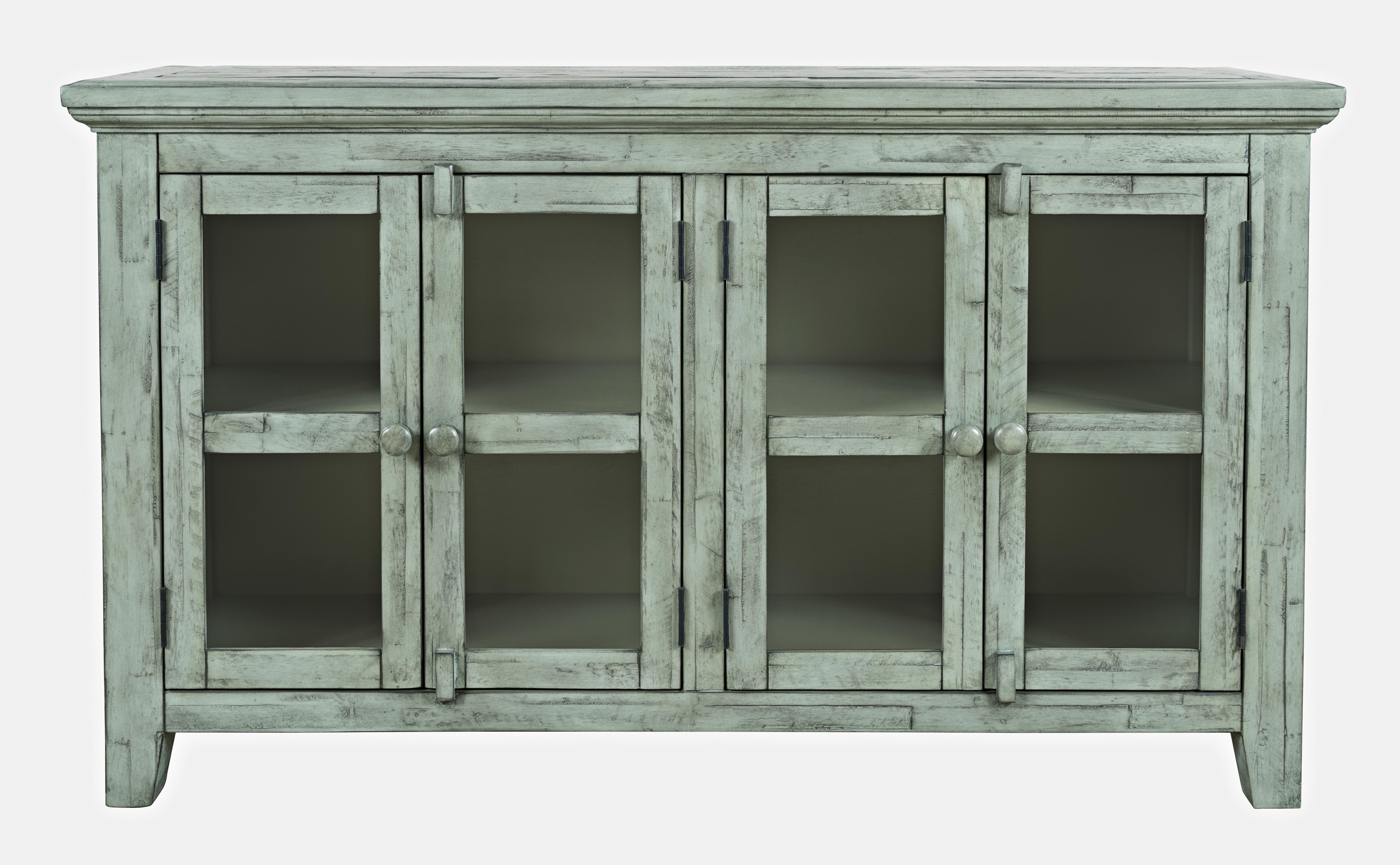 Rustic Shores 4 Door Low Cabinet by Jofran at Jofran
