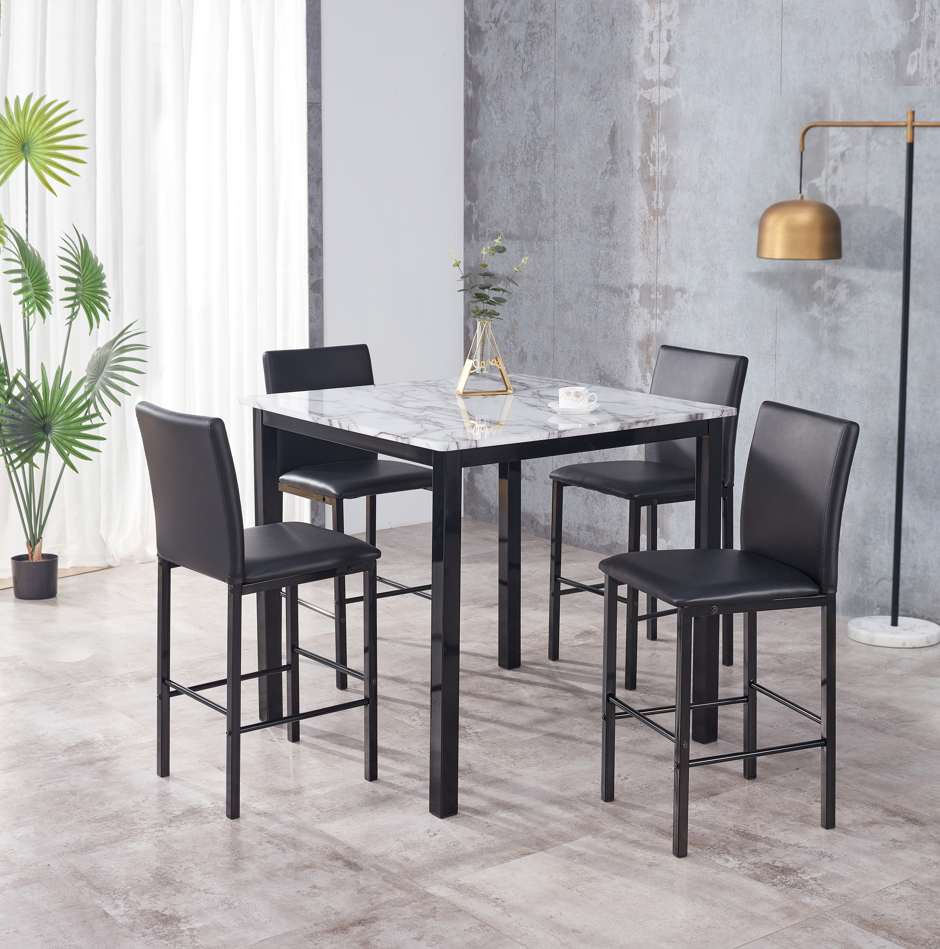 Aiden 5-Pack Counter Height Dinette by Crown Mark at Northeast Factory Direct