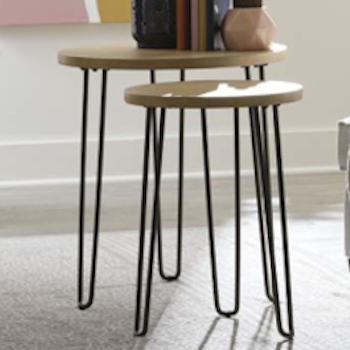 Oblique Round Nesting End Tables by Hammary at Crowley Furniture & Mattress