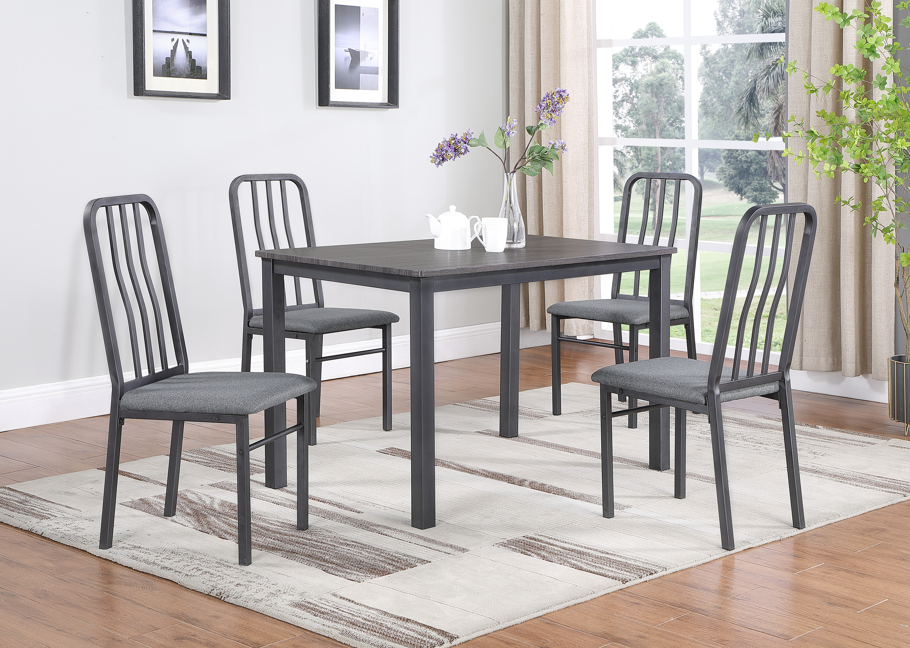 Renzo Dining Set by Crown Mark at Dream Home Interiors