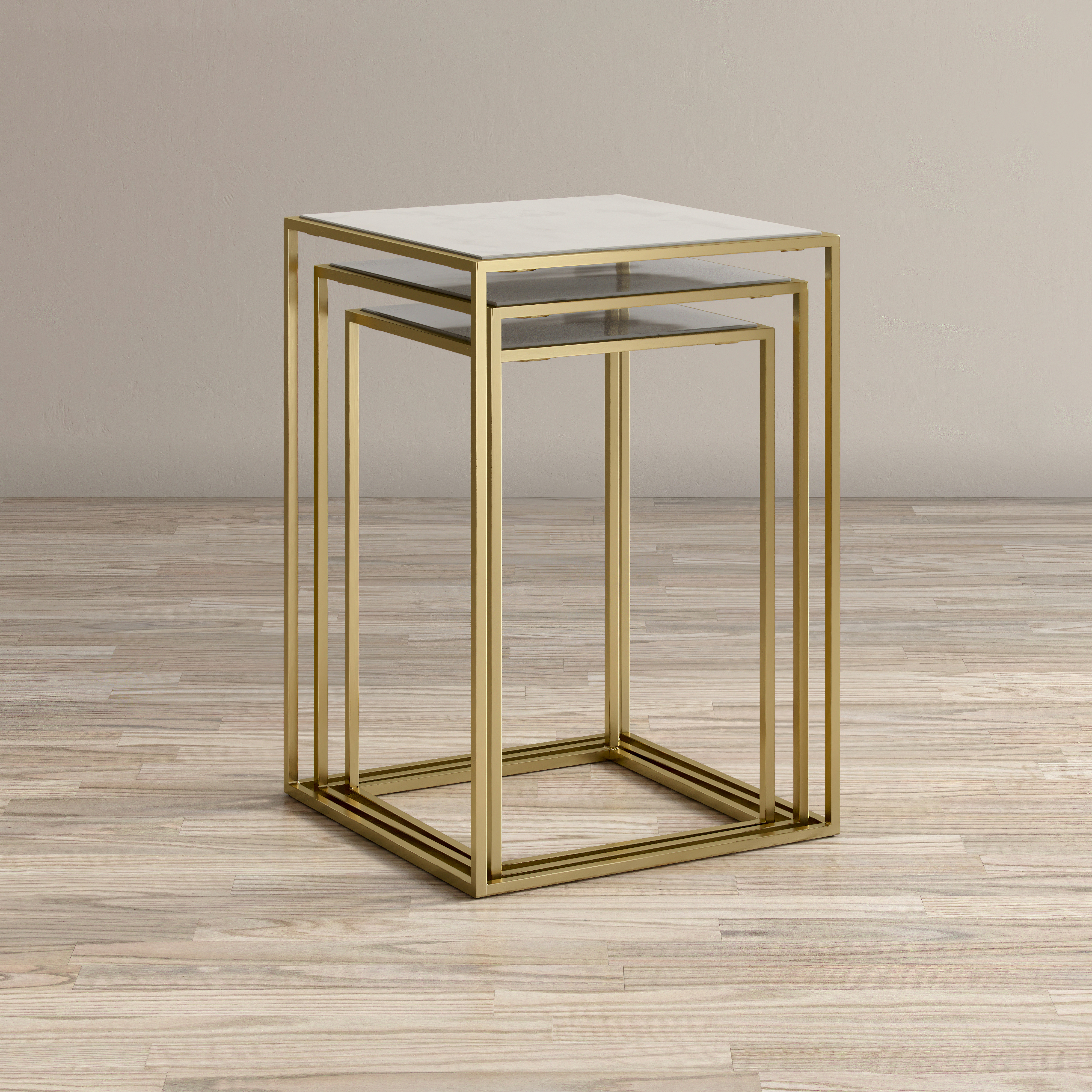 Global Archive Sorrento Nesting Table - Set of 3 by Jofran at Jofran