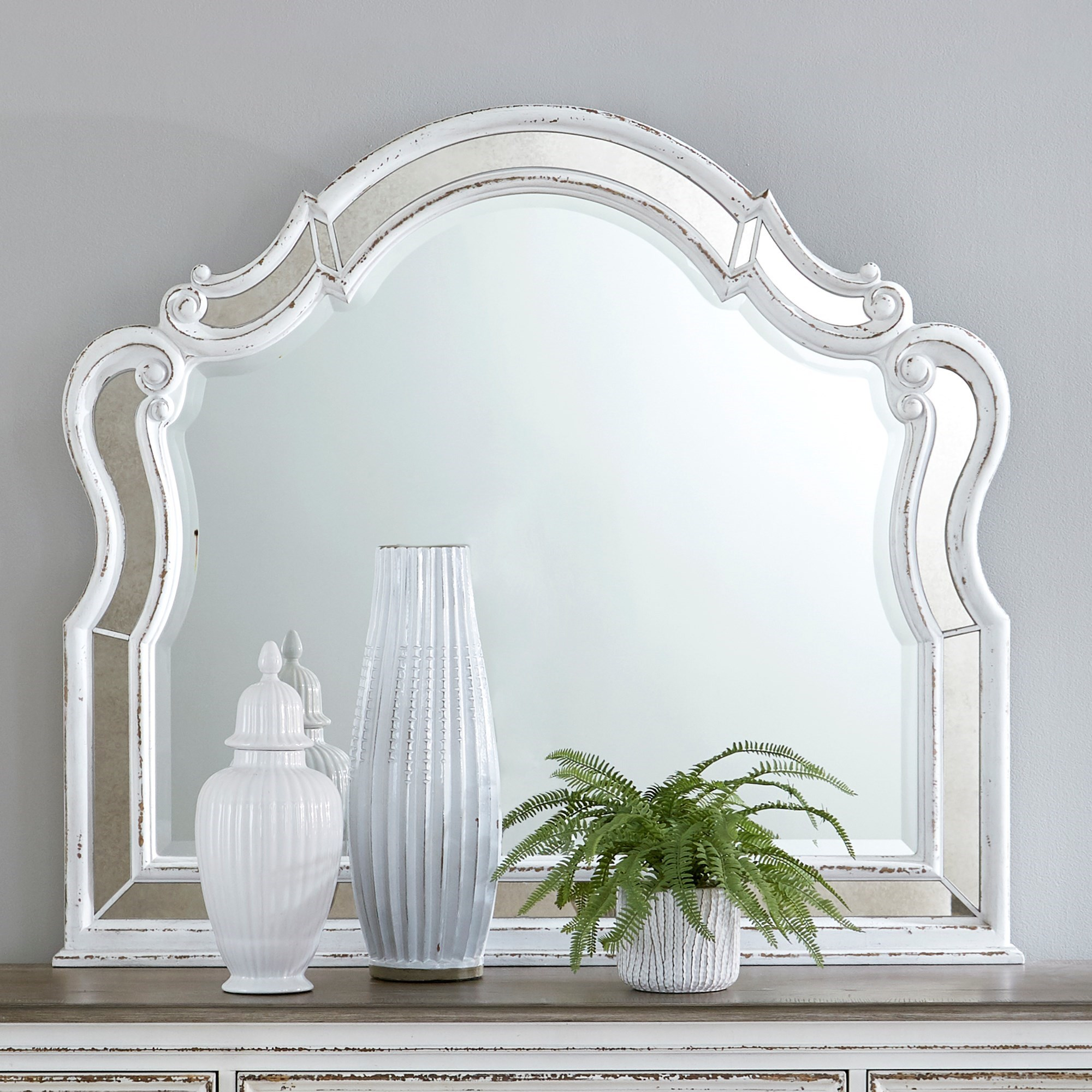 Magnolia Manor Scalloped Mirror by Sarah Randolph Designs at Virginia Furniture Market