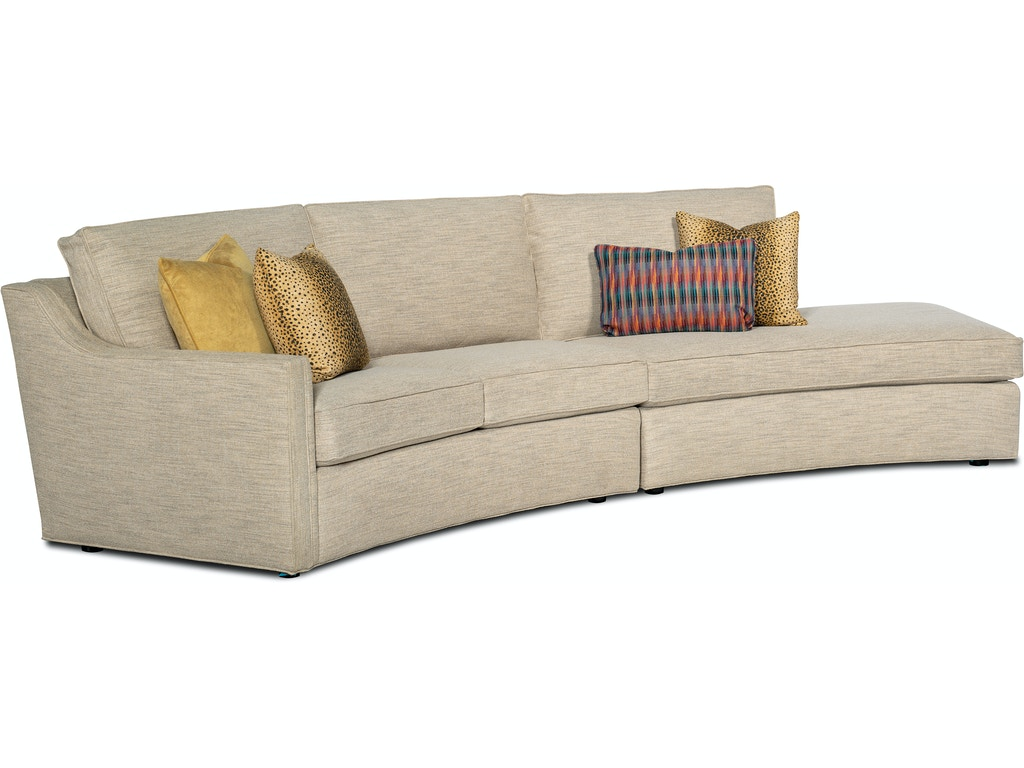 2-Piece Sectional Sofa w/ RAF Bumper Chaise