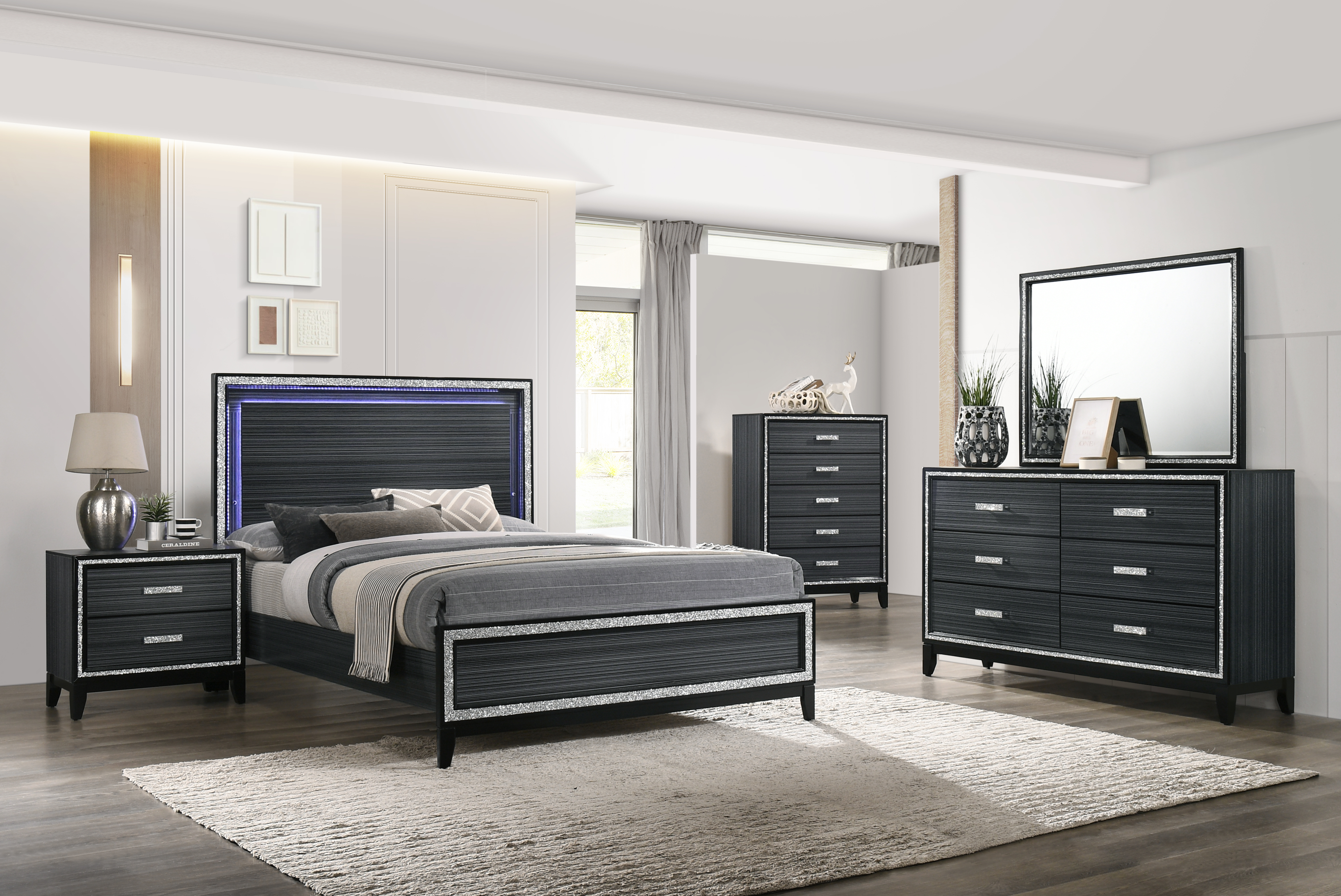 Haiden King Bedroom Group by Acme Furniture at Dream Home Interiors