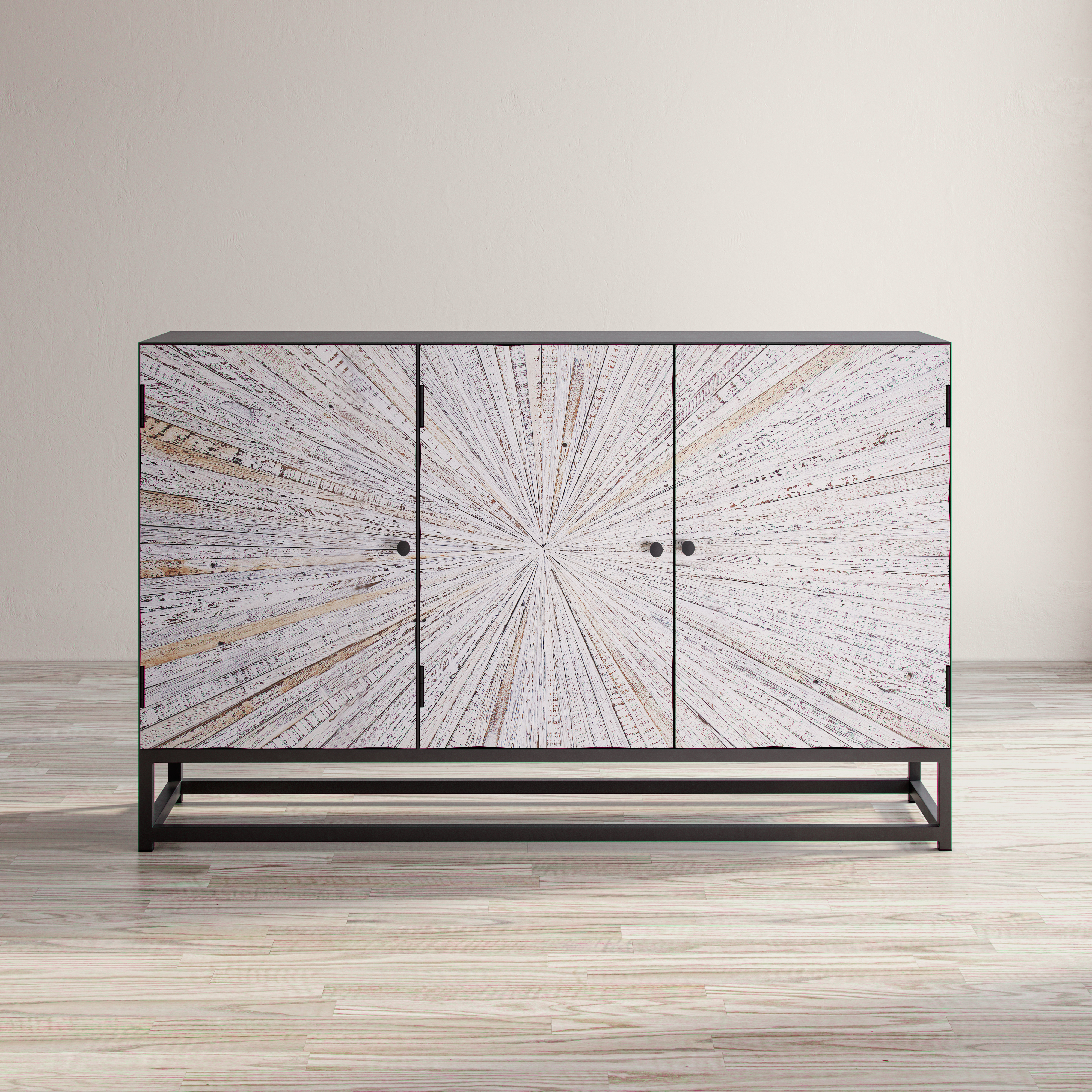 Astral Plains Reclaimed 3 Door Accent Cabinet by Jofran at Simply Home by Lindy's