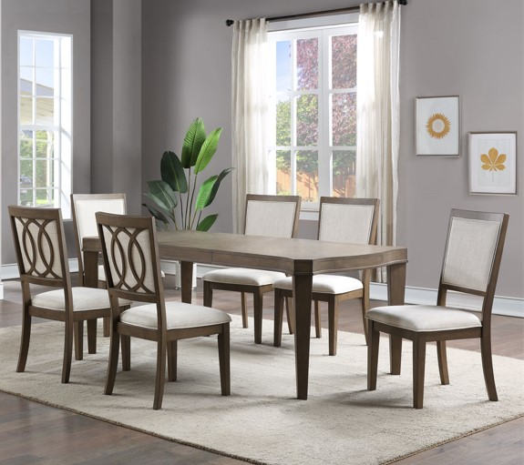Bordeaux 7-Piece Dining Set by Steve Silver at Northeast Factory Direct