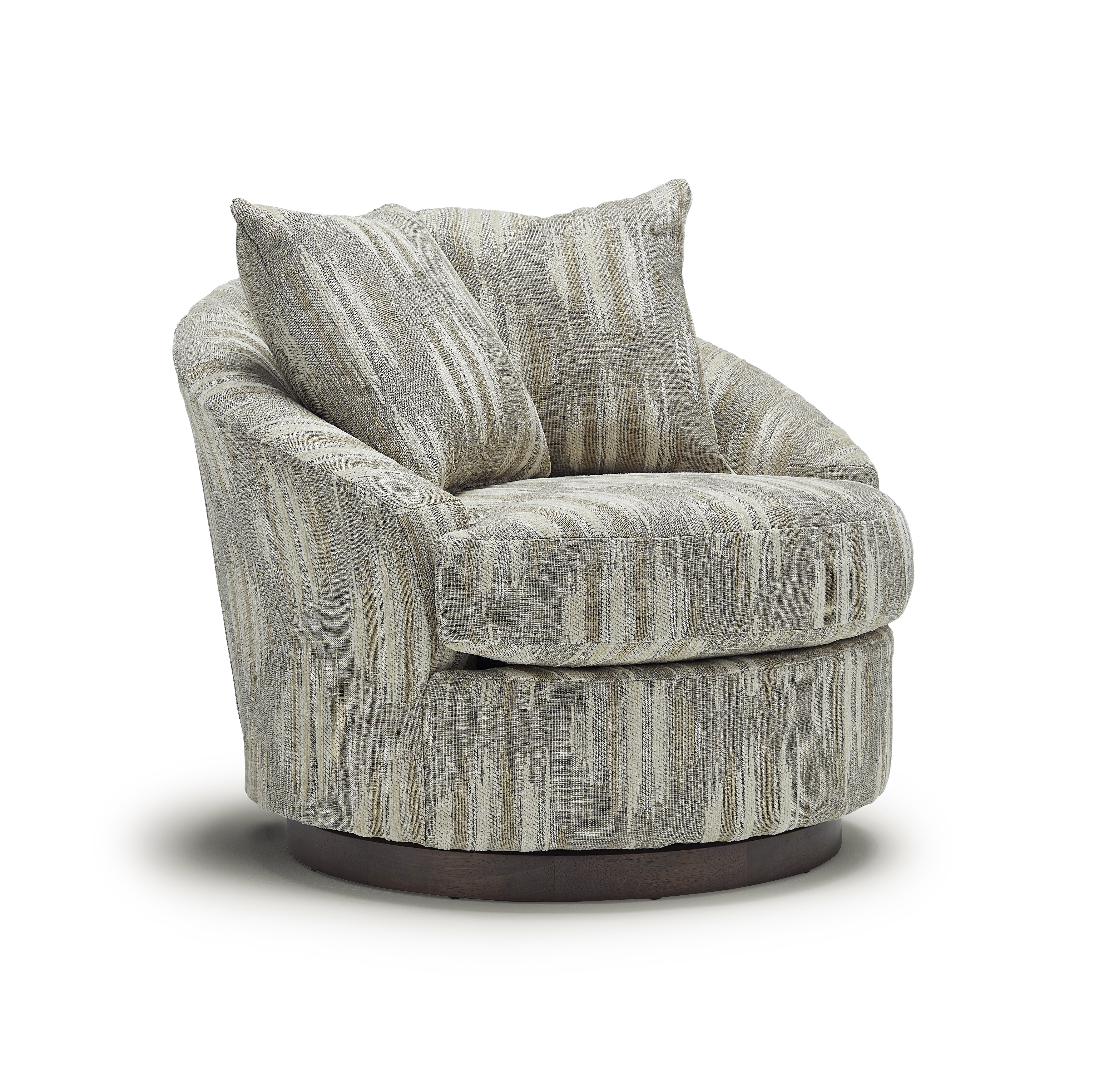 Alanna Swivel Barrel Chair by Best Home Furnishings at Van Hill Furniture