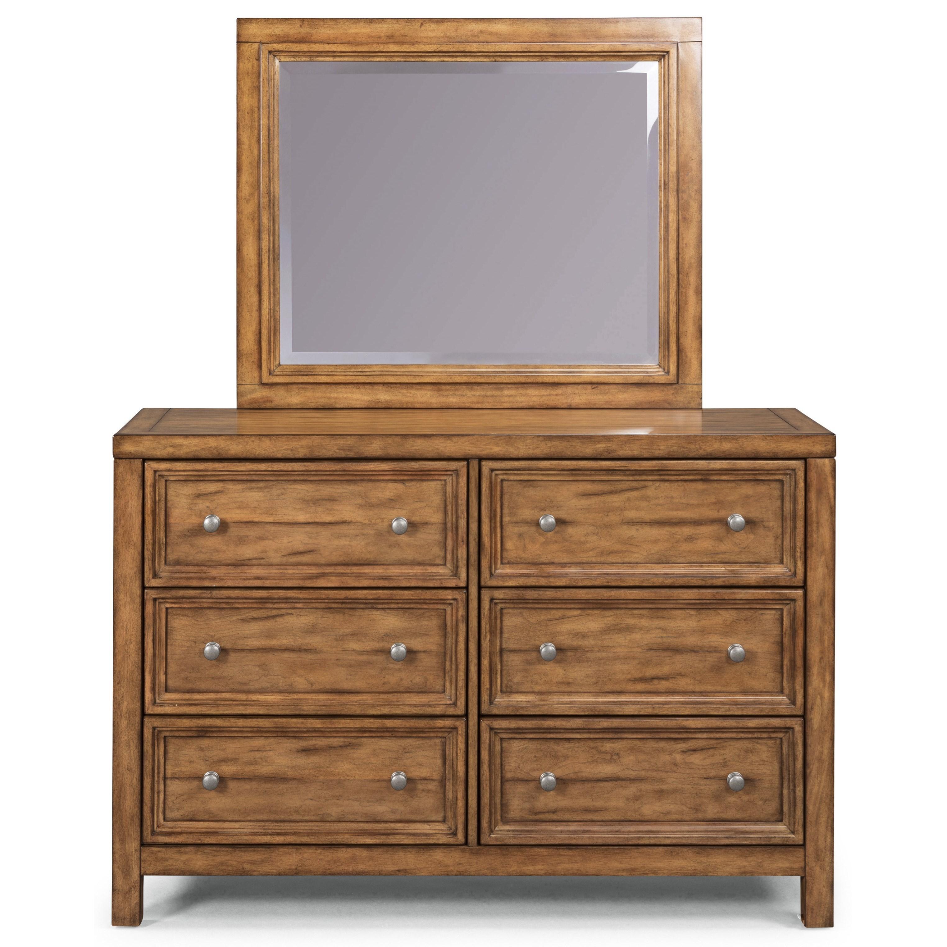 Sedona Dresser & Mirror by homestyles at Sam Levitz Outlet