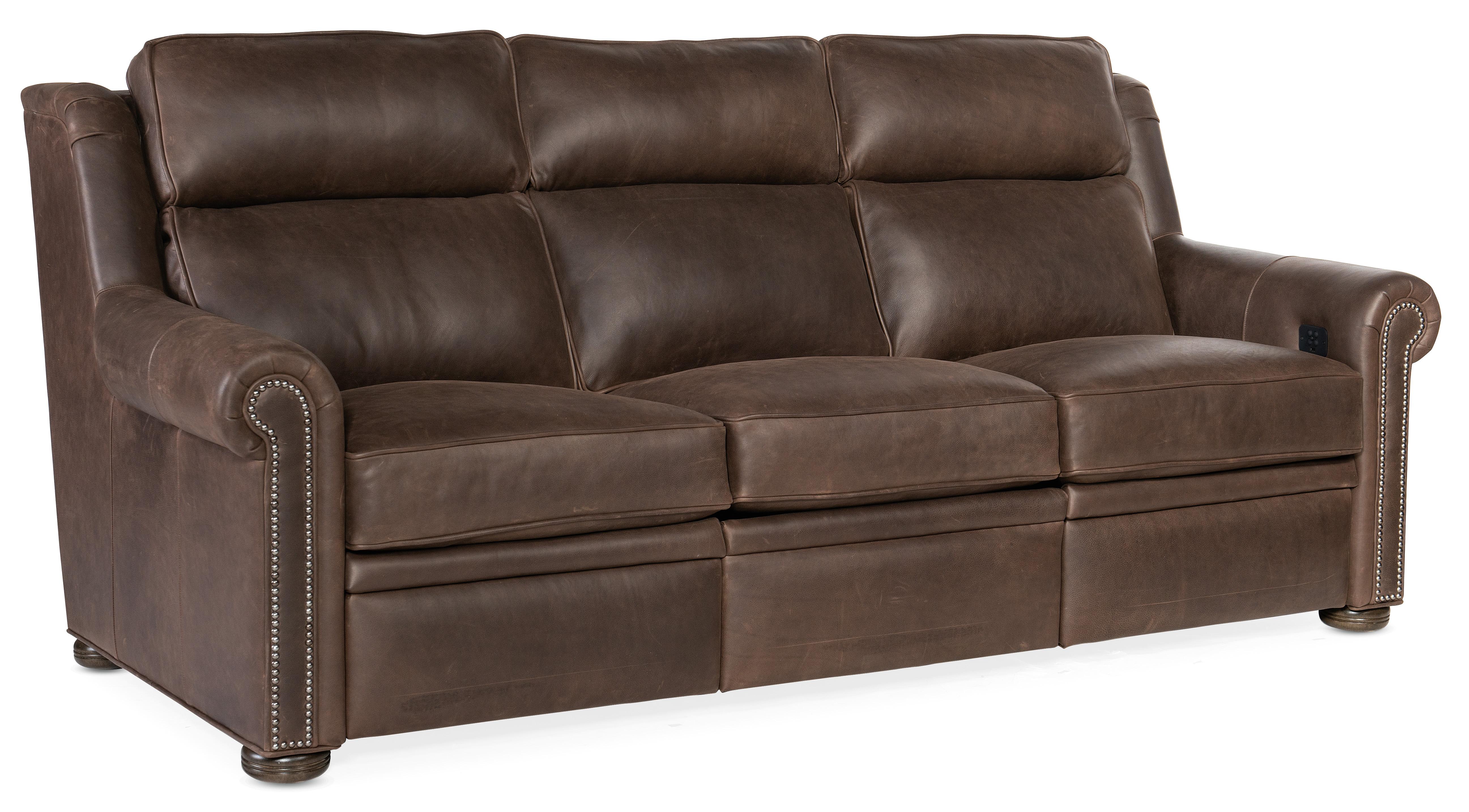 Reece Power Reclining Sofa w/ Power Headrest by Bradington Young at Belfort Furniture