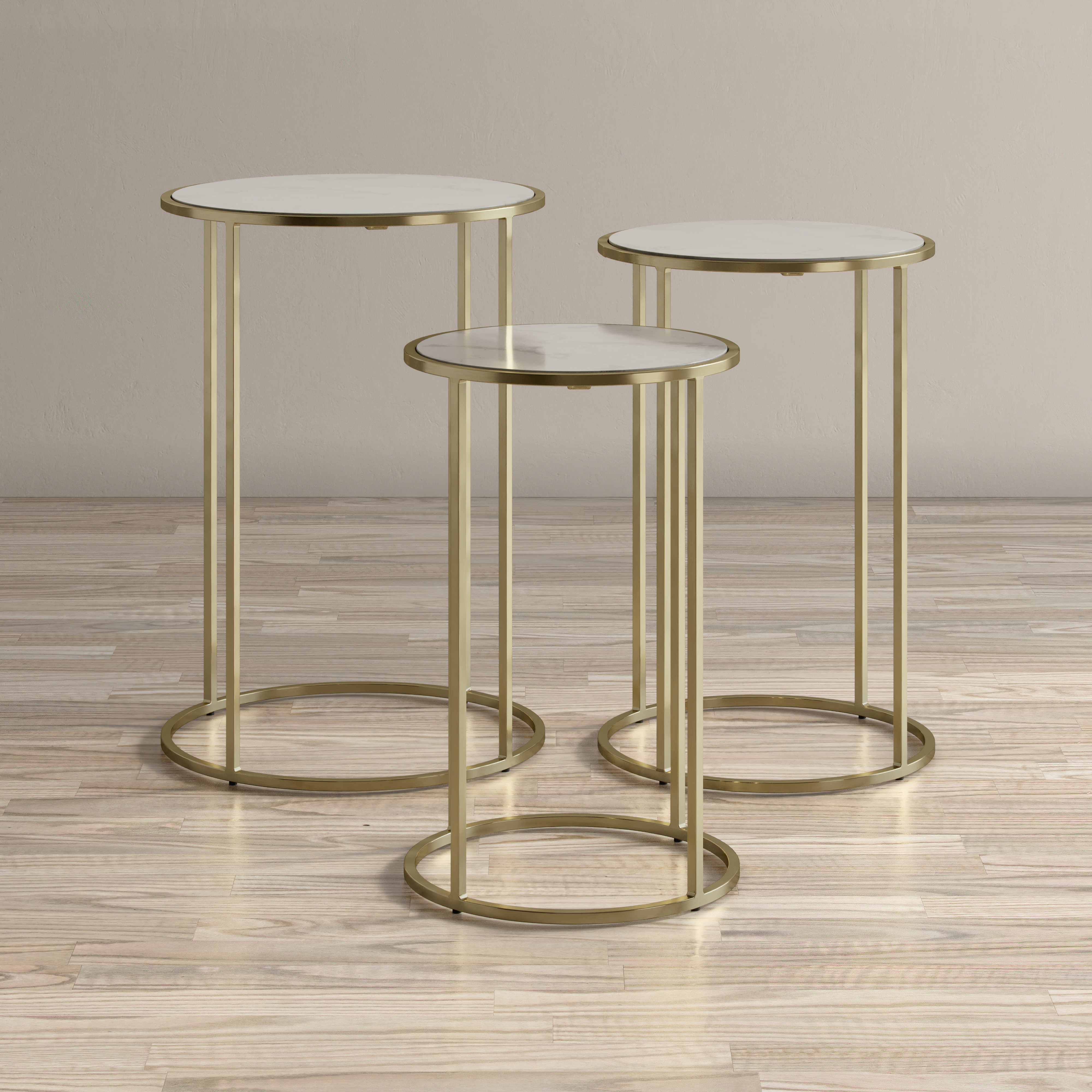 Global Archive Riviera Nesting Table - Set of 3 by VFM Signature at Virginia Furniture Market