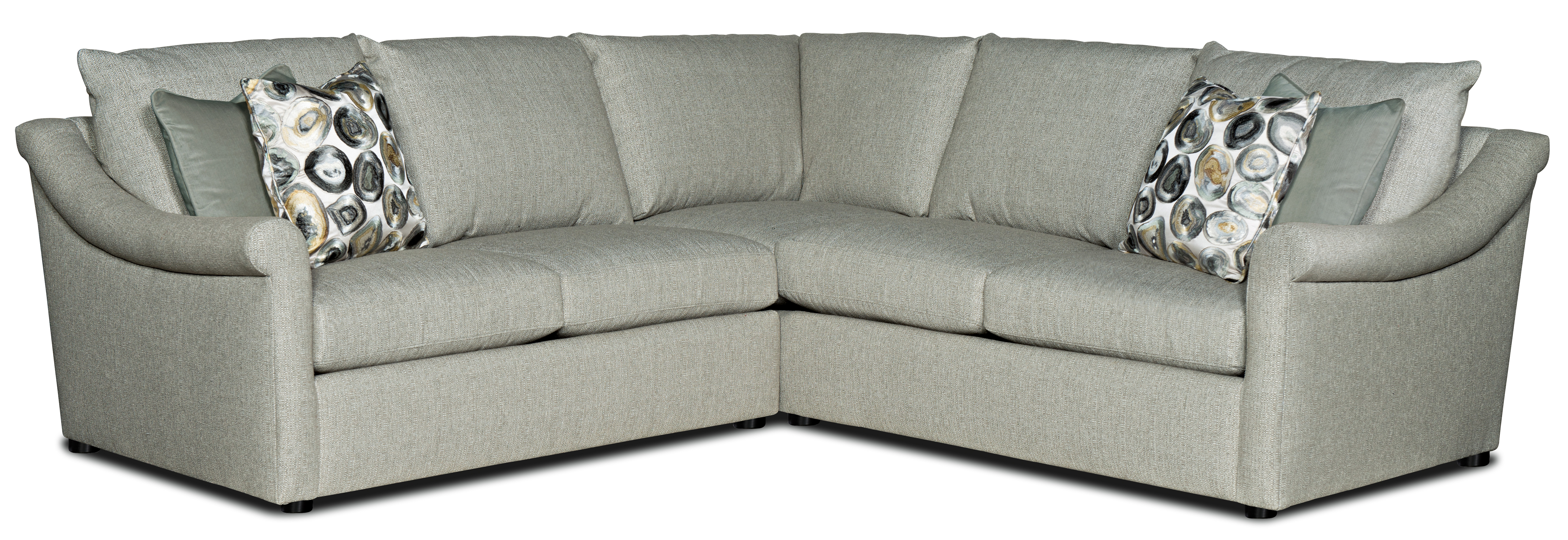 Danae 2-Piece Sectional Sofa w/ LAF Loveseat by Sam Moore at Jacksonville Furniture Mart
