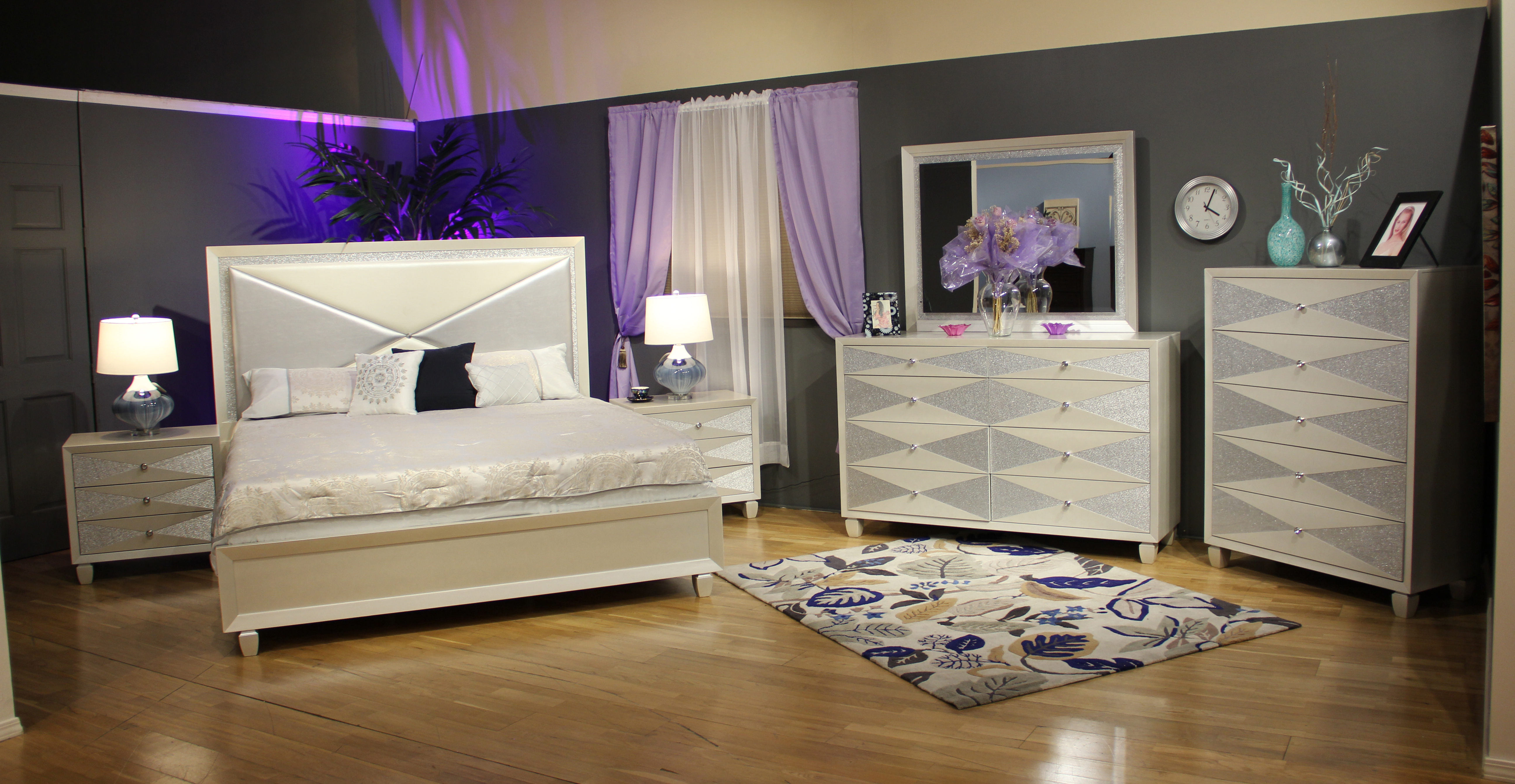 Harlequin Bedroom Set by New Classic at Beds N Stuff