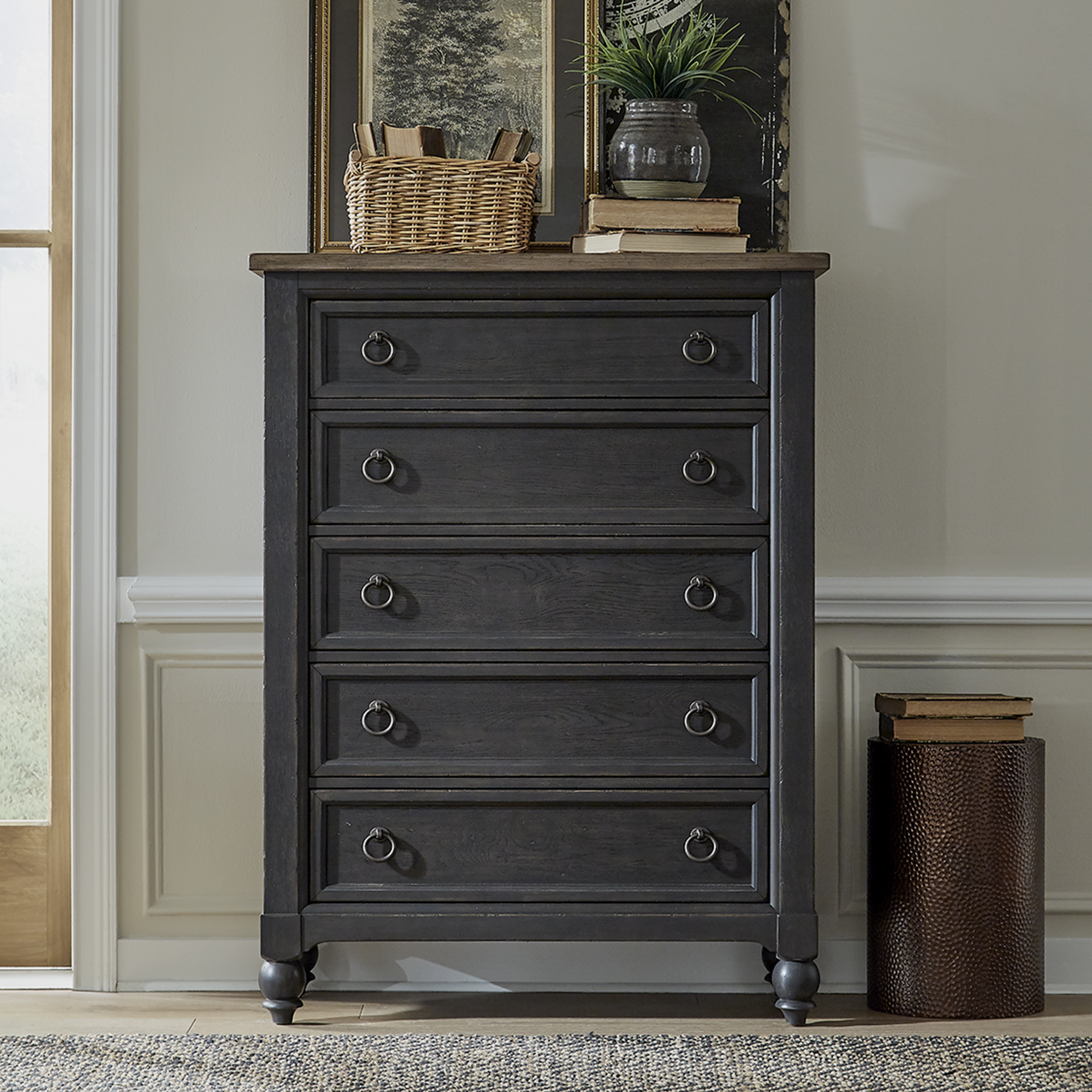 Americana Farmhouse Chest by Liberty Furniture at Furniture and ApplianceMart