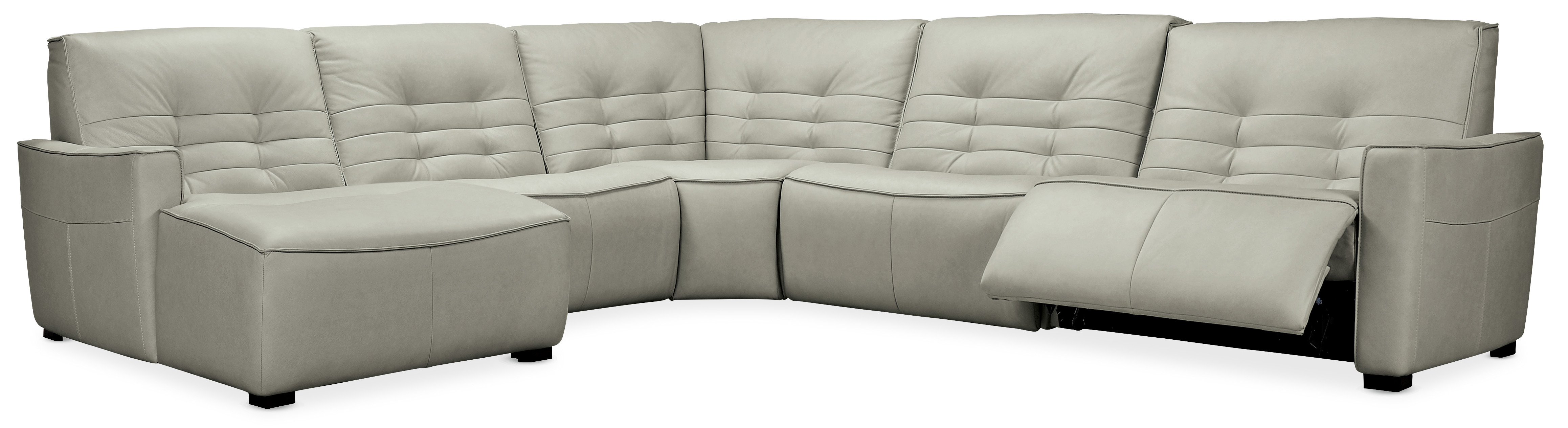 Reaux 5-Pc Power Recline Sectional with LAF Chaise by Hooker Furniture at Lindy's Furniture Company