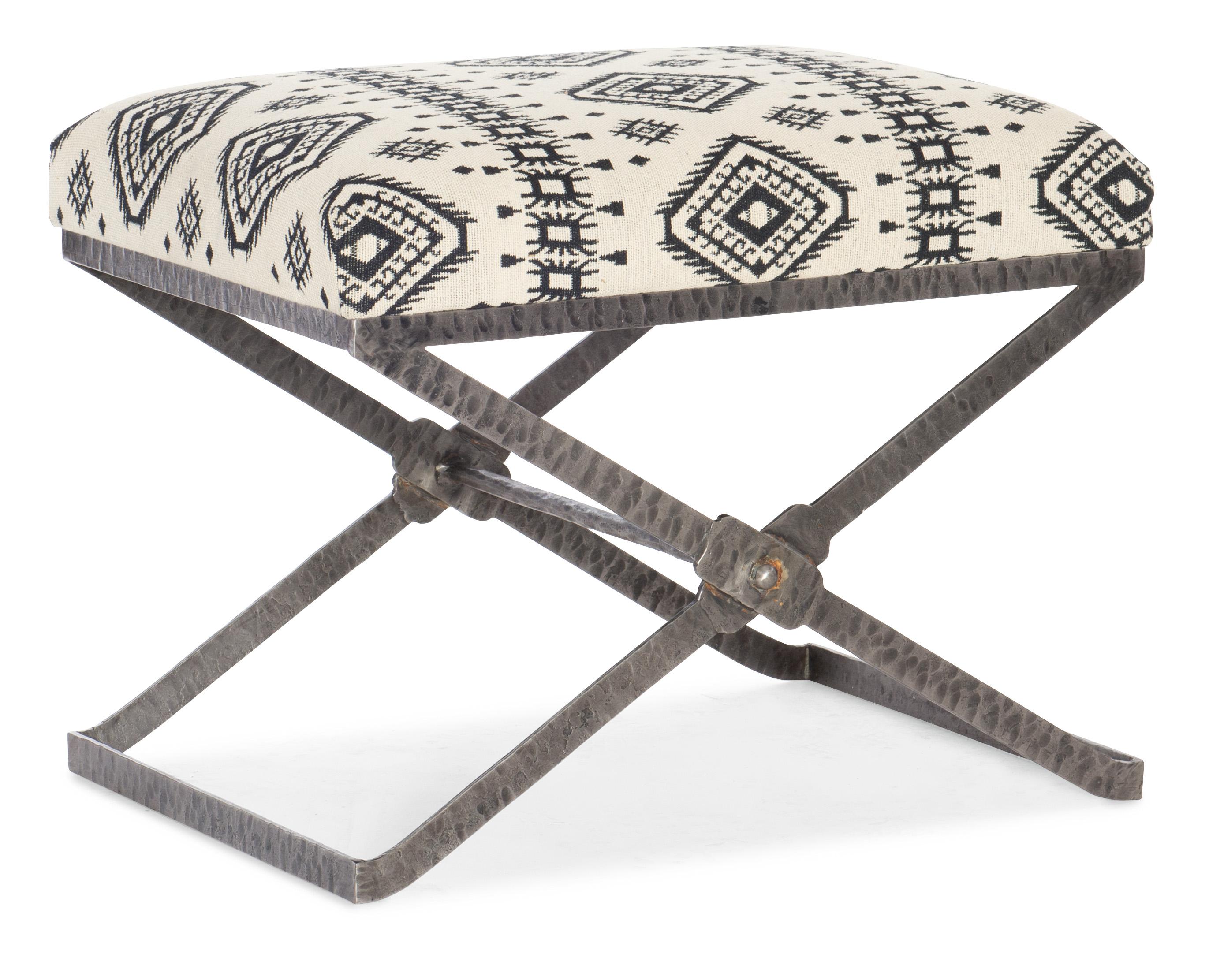Melange Trobe Stool by Hooker Furniture at Miller Waldrop Furniture and Decor