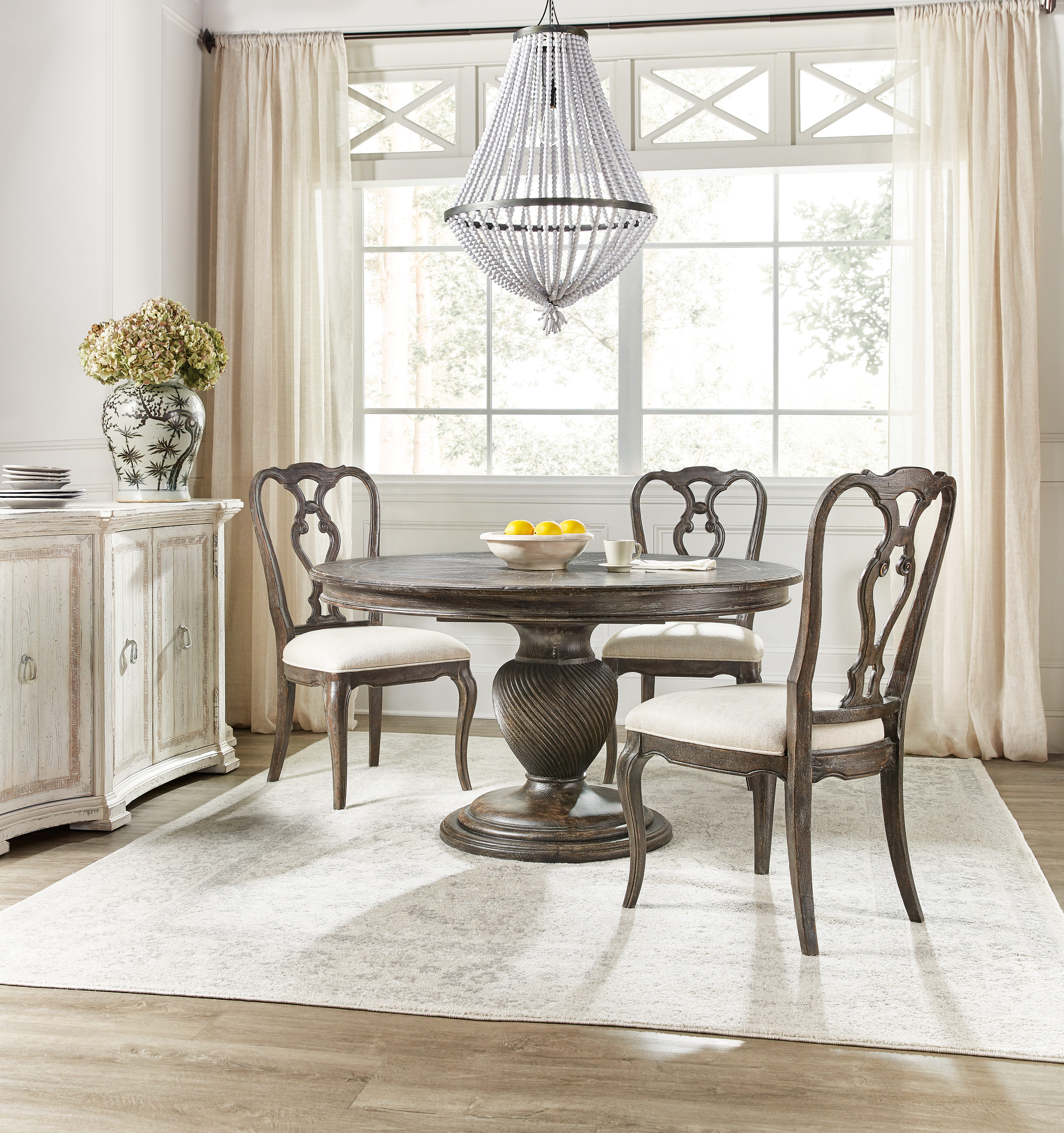 4-Piece Dining Set with Round Table