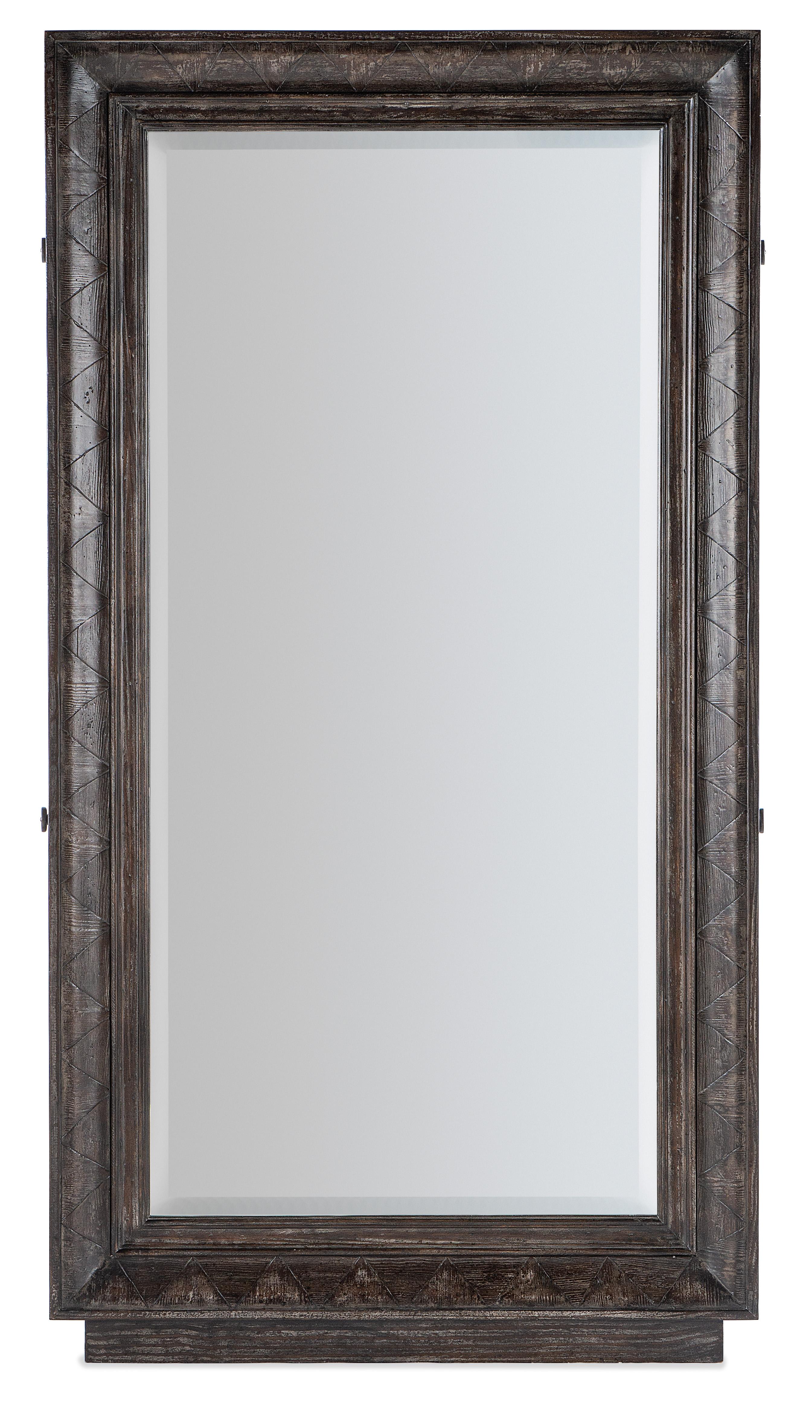 Floor Mirror w/ Hidden Jewelry Storage