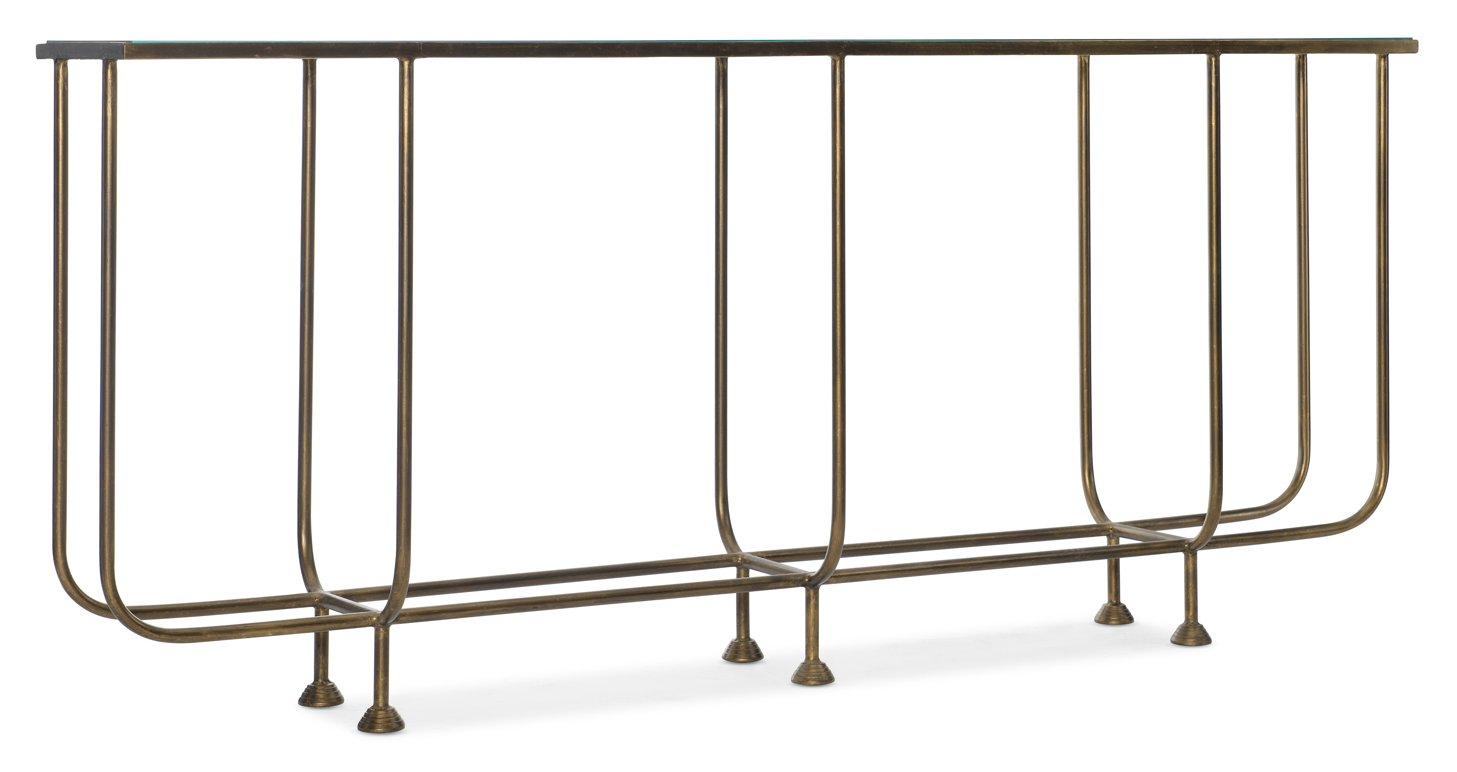 Commerce and Market Kiara Rectangle Sofa Console by Hooker Furniture at Miller Waldrop Furniture and Decor