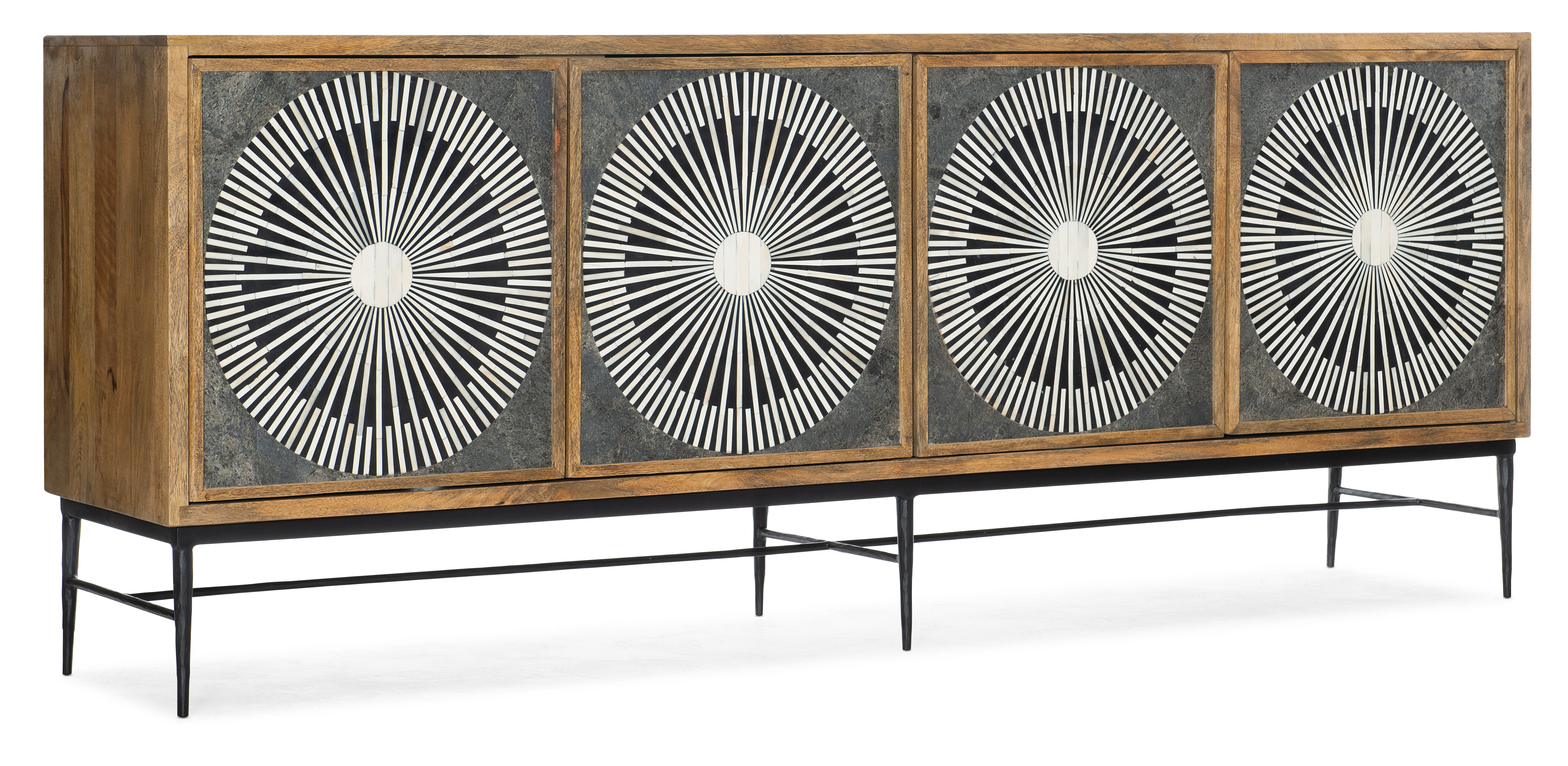 Commerce and Market Giovanni Entertainment Console by Hooker Furniture at Baer's Furniture