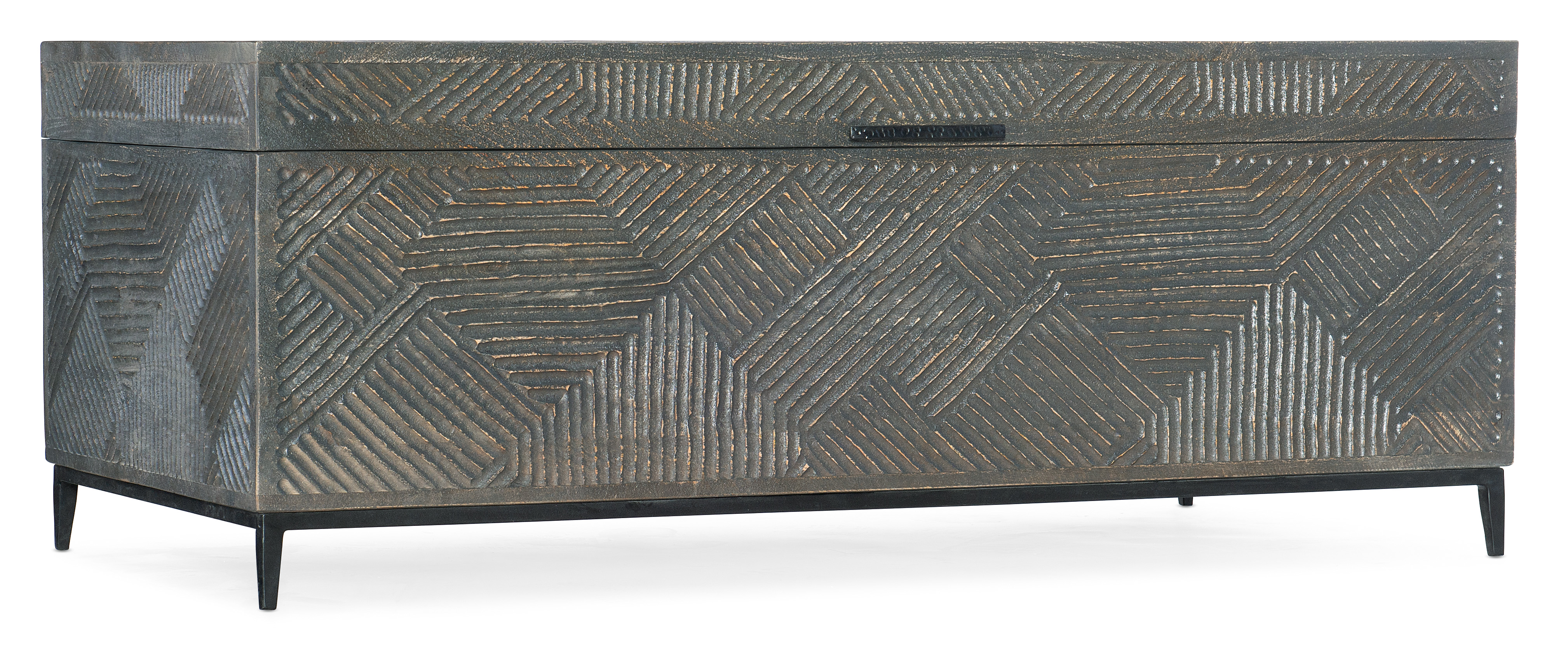 Commerce and Market Carved Chest Cocktail Table by Hooker Furniture at Fashion Furniture