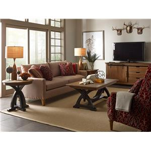 Kincaid Furniture Stone Ridge Transitional Arm Chair with Upholstered Seat and Nailhead Trim
