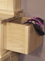 Hidden Drawers Provide Extra Storage.