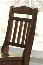Carved Slat Back Chairs