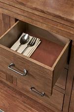 Felt Bottom Drawer to Protect Silverware and China
