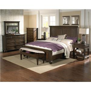 AAmerica Gallatin California King Bedroom Group