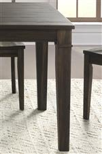 Standard height table top and leg detail