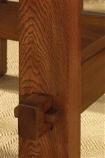 Pegged Through Tenon Detail