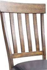 Slat Back Chairs in Regular and Counter Heights