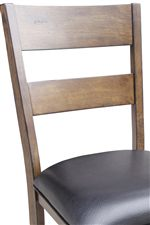 Ladderback Side Chairs and Counter Height Stools with Upholstered Seat