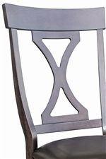 Hour Glass Cut Out on Side Chair Backs