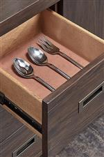 Felt-Lined Drawer to Protect Your Utensils