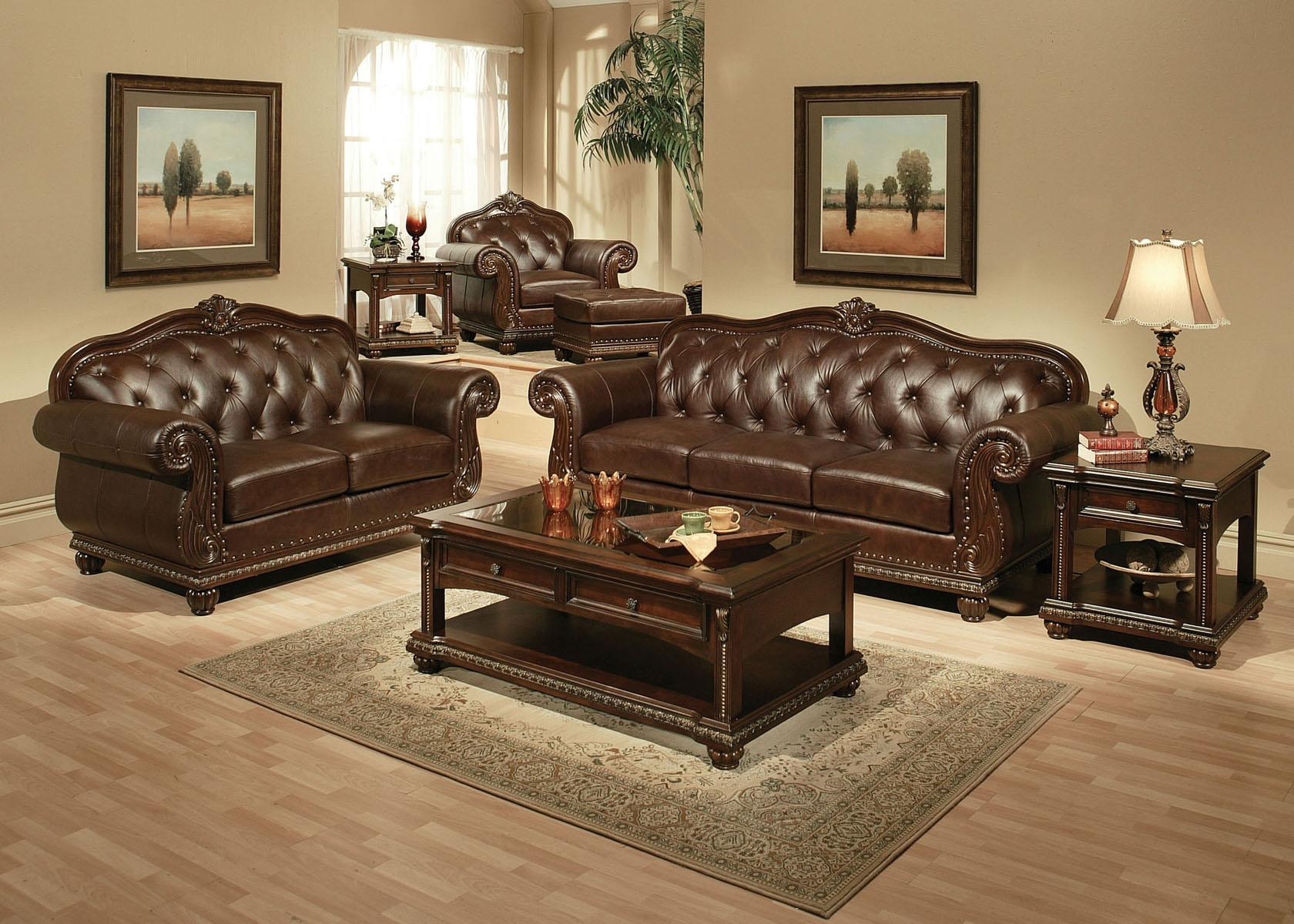 Acme Furniture Anondale Stationary Living Room Group - Item Number: 150 Stationary Living Room Group