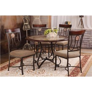 Acme Furniture Barrie Round Dining Table with Pedestal Base