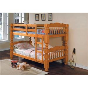Acme Furniture Benji Traditional Twin Bunkbed