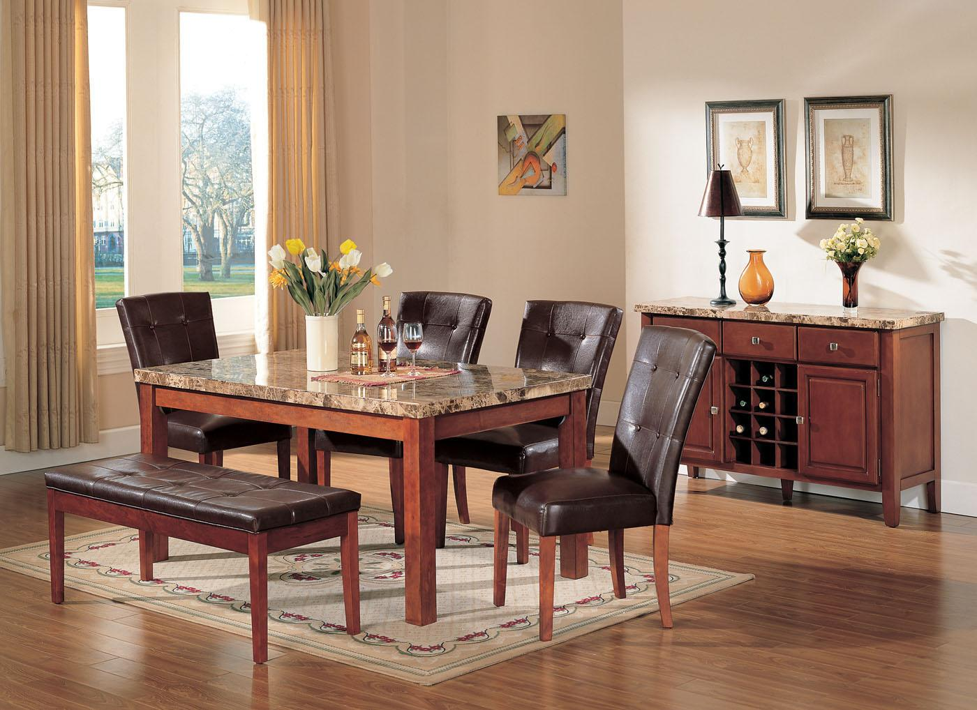 Acme Furniture Bologna 6-7 Piece Marble Top Dining Set | Rooms for ...